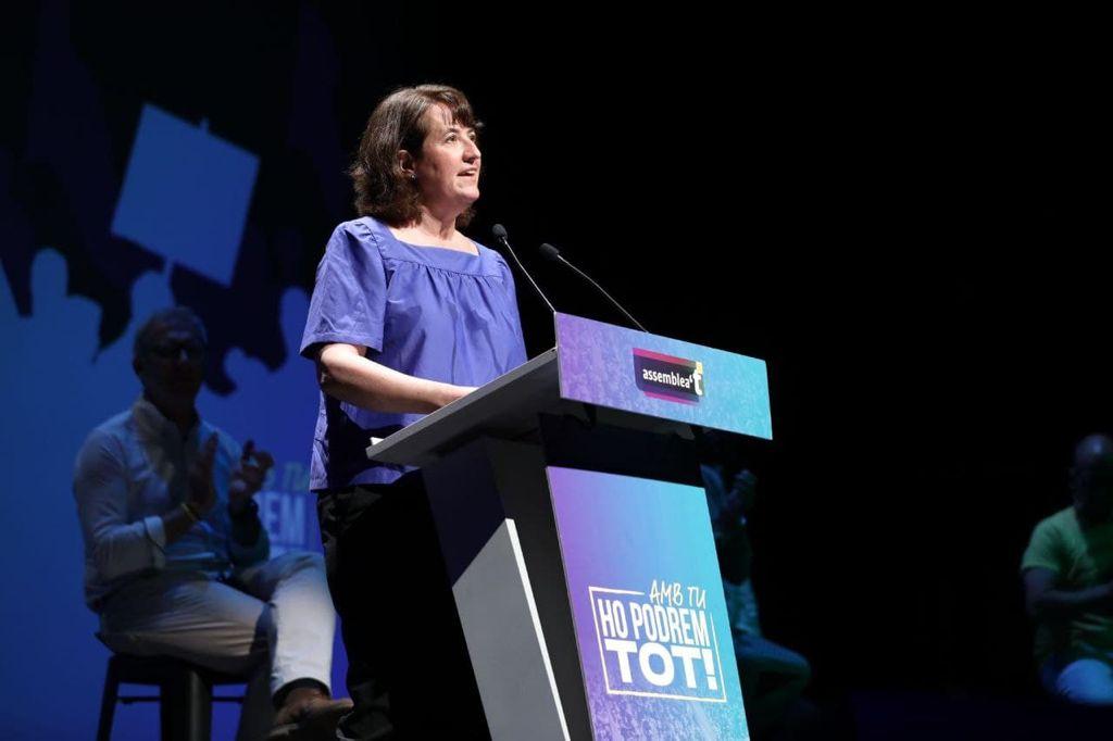 La presidenta de l'ANC, Elisenda Paluzie, a Cornellà / ANC