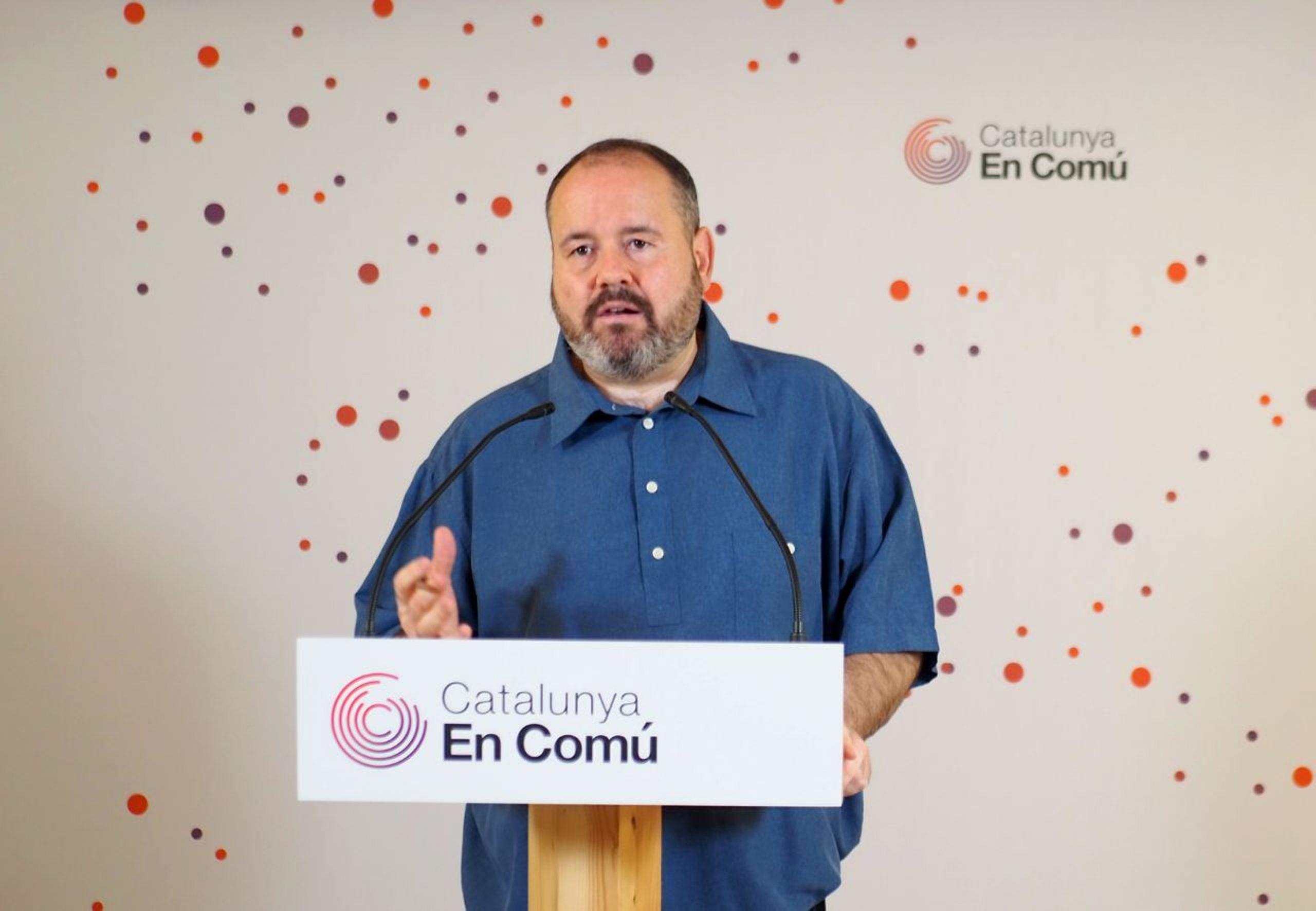 El portaveu de Catalunya en Comú, Joan Mena | ACN