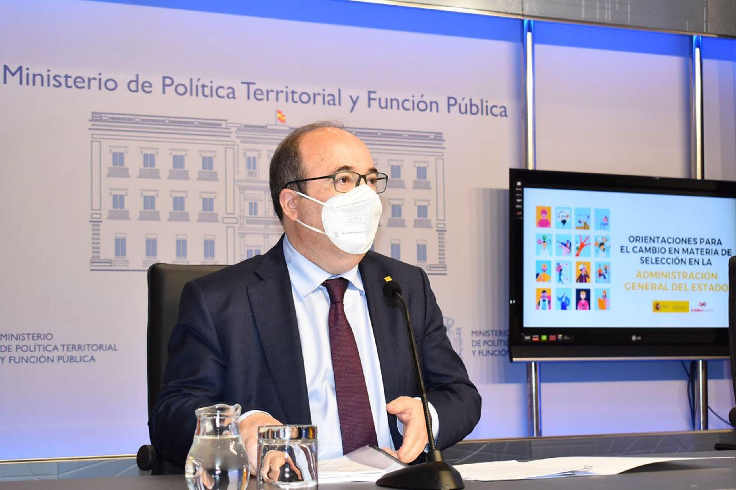 El ministre de Política Territorial i primer secretari del PSC, Miquel Iceta | ACN