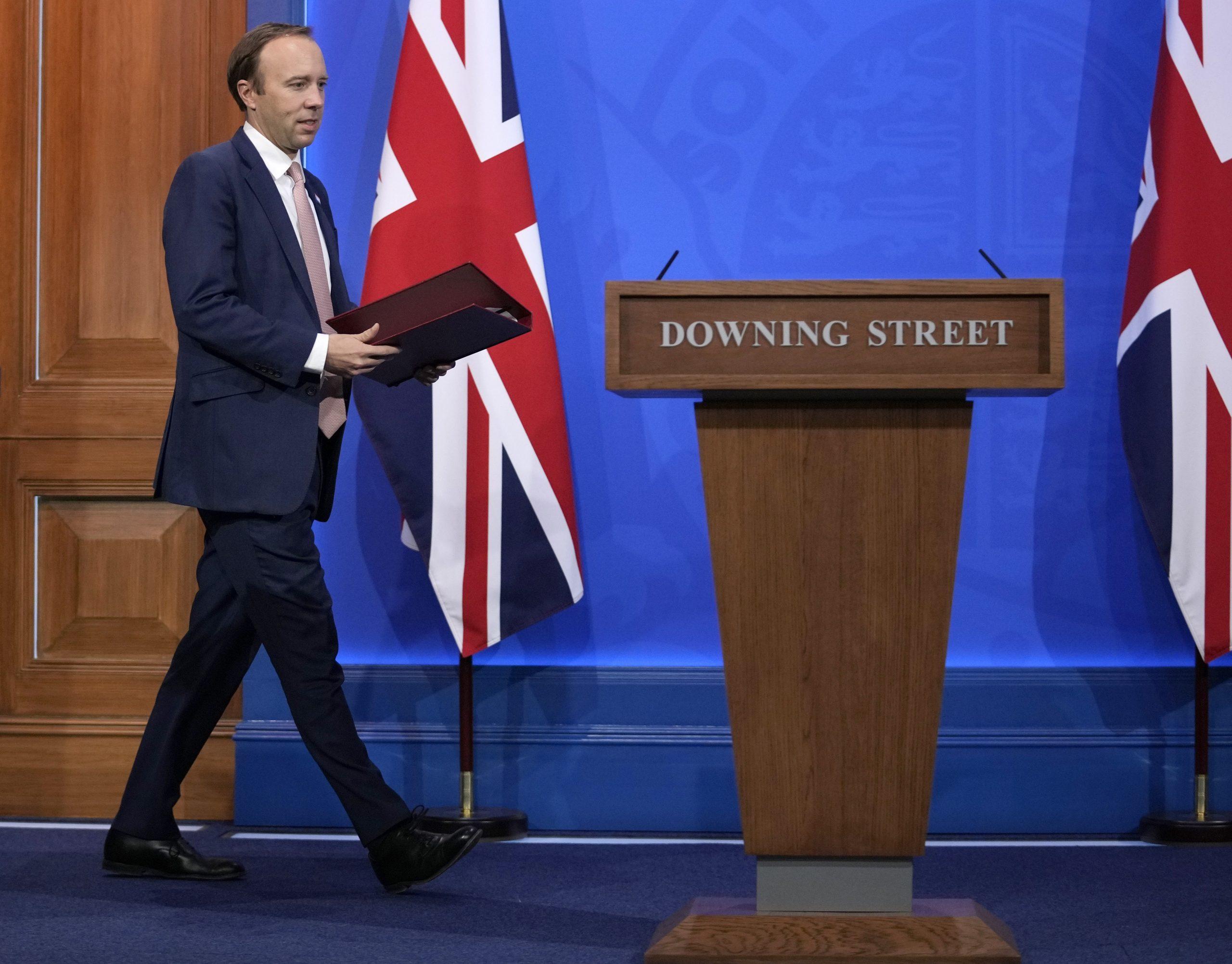 El secretari d'Estat de Salut del Regne Unit, Matt Hancock / EP