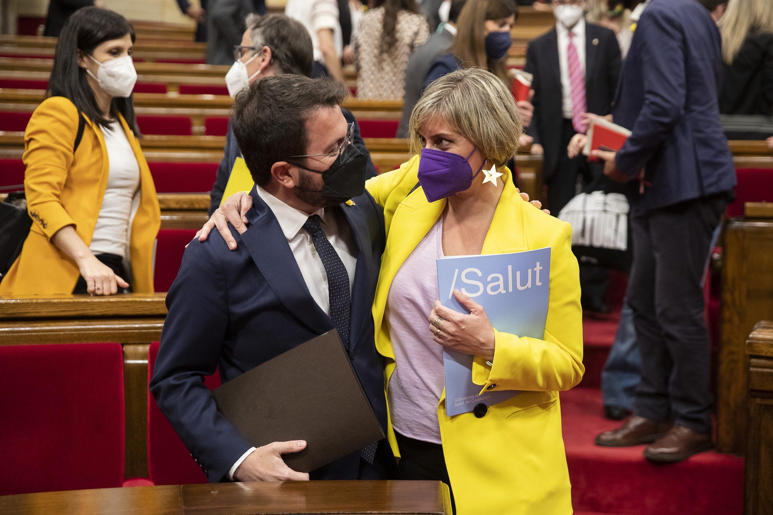 Debat d'investidura de Pere Aragonès com a President de la Generalitat al Parlament de Catalunya.  foto: Jordi Play