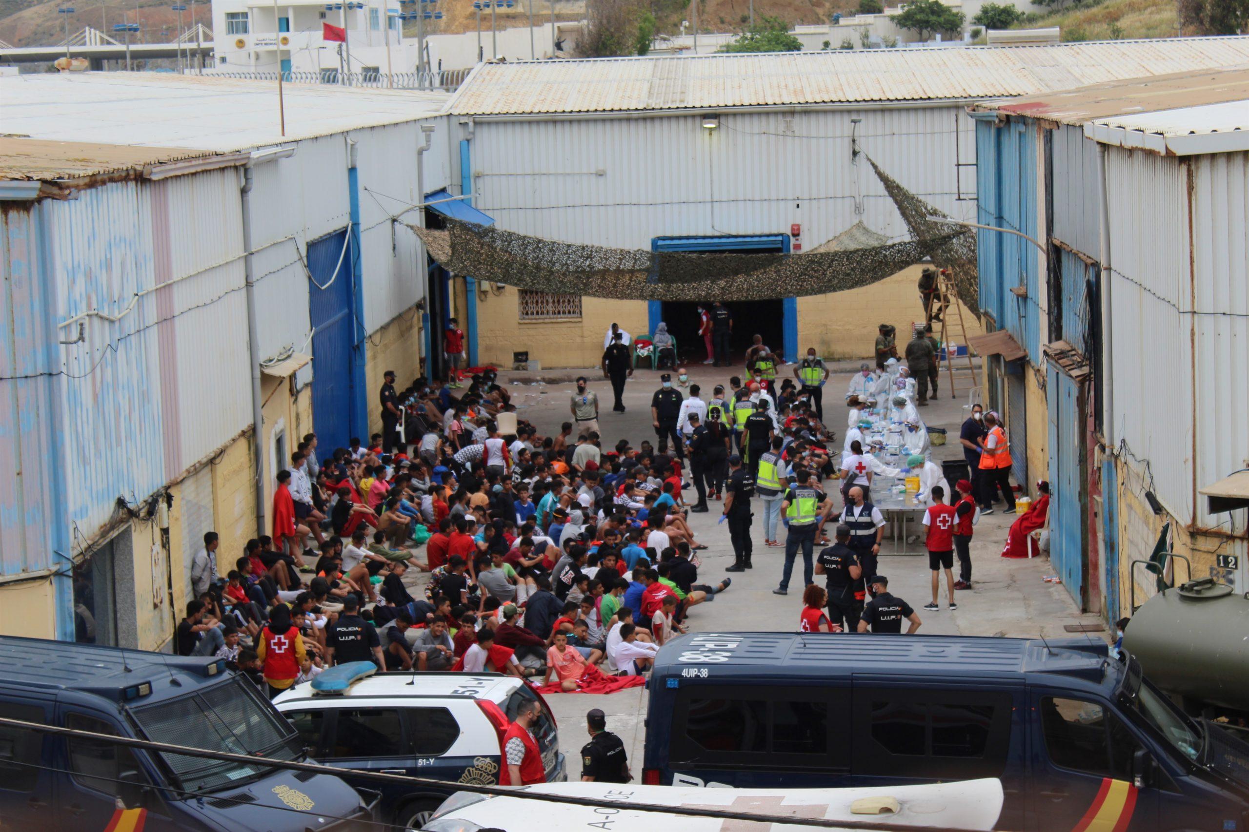 Menors a Ceuta després de la crisi migratòria d'aquest mes / EuropaPress