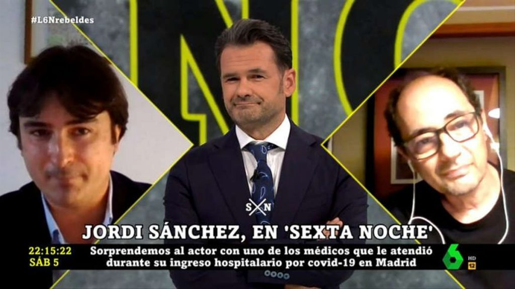 Jordi Sánchez es retroba amb un dels metges que el va atendre a la UCI - La Sexta