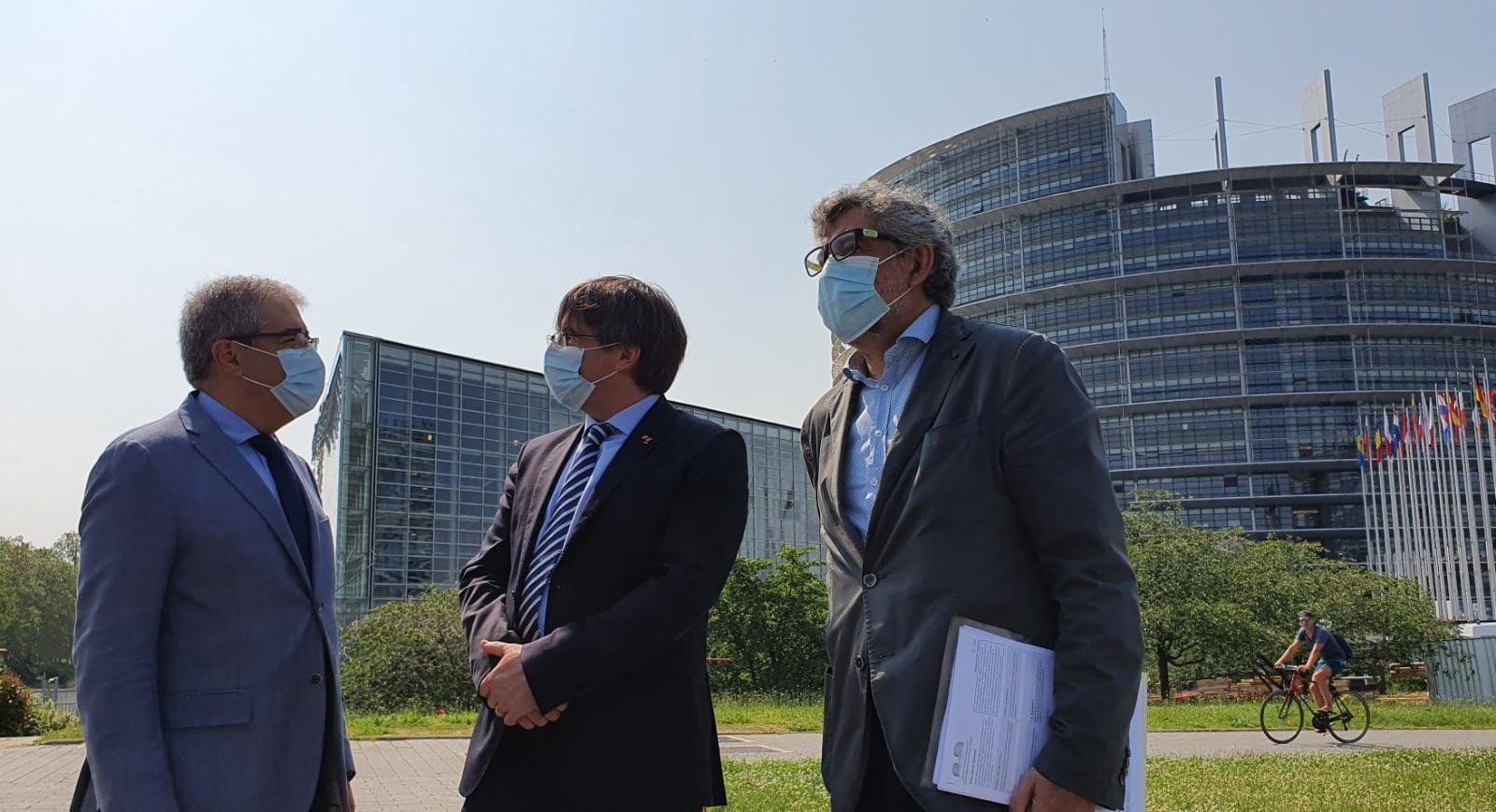 Francesc Homs, Carles Puigdemont i Jordi Pina