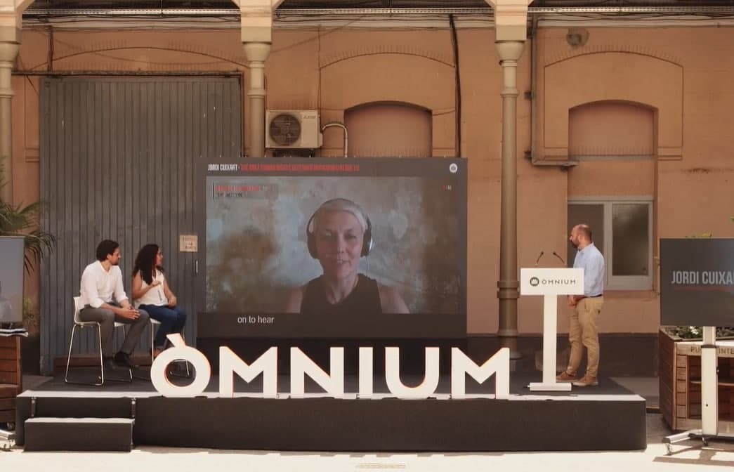 Una imatge de la presentació del recurs d'òmnium/OC