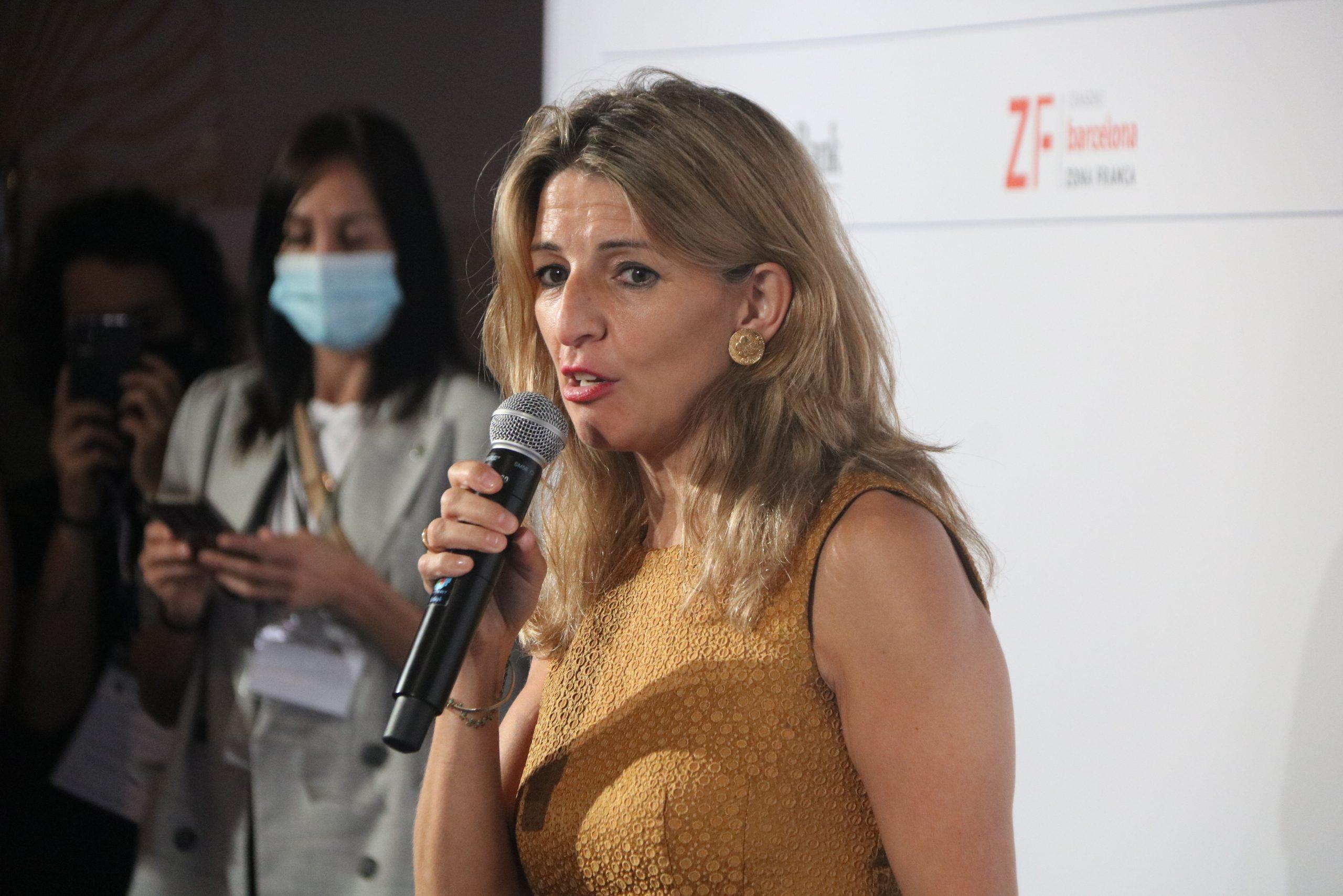La ministra de Treball i Economia Social del govern espanyol, Yolanda Díaz / ACN