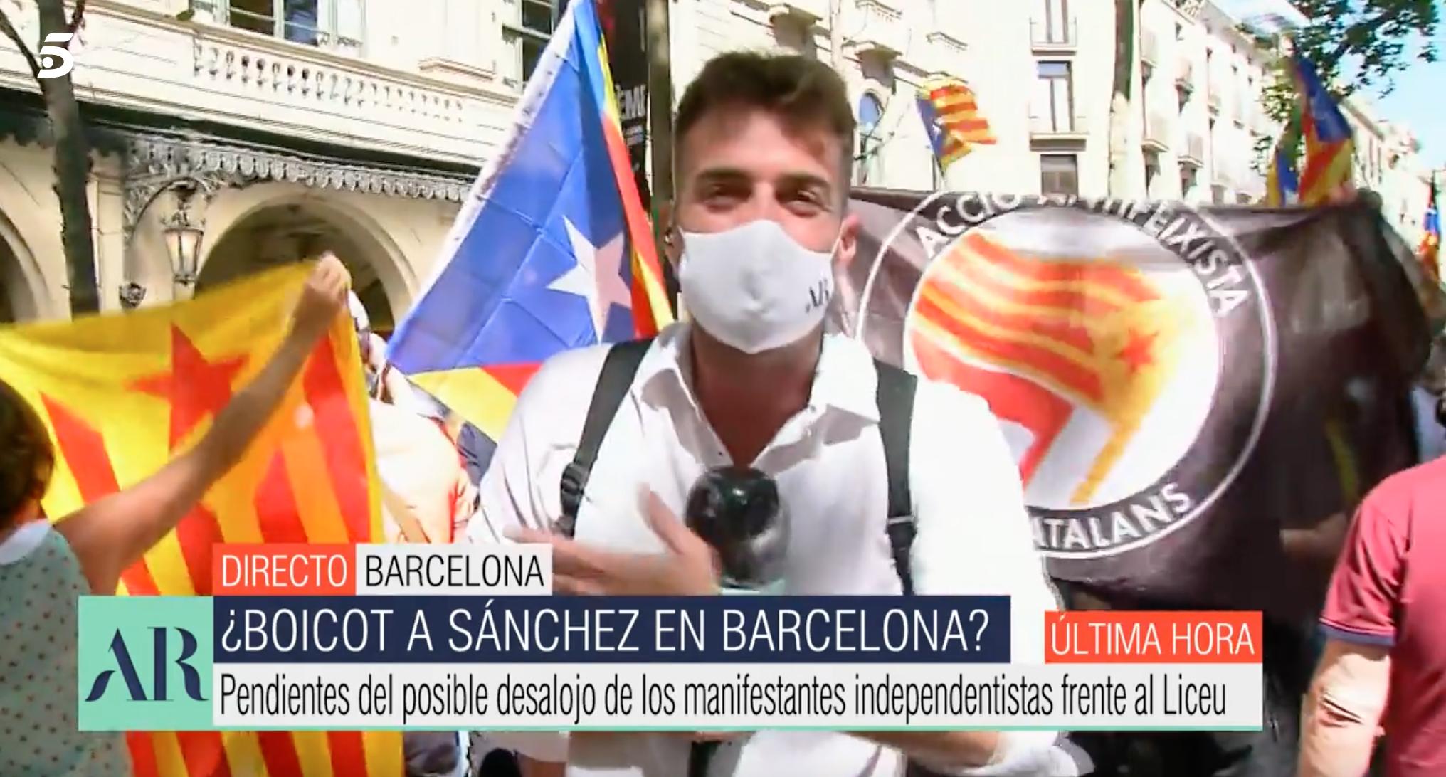 Miquel Valls a La Rambla de Barcelona | Telecinco