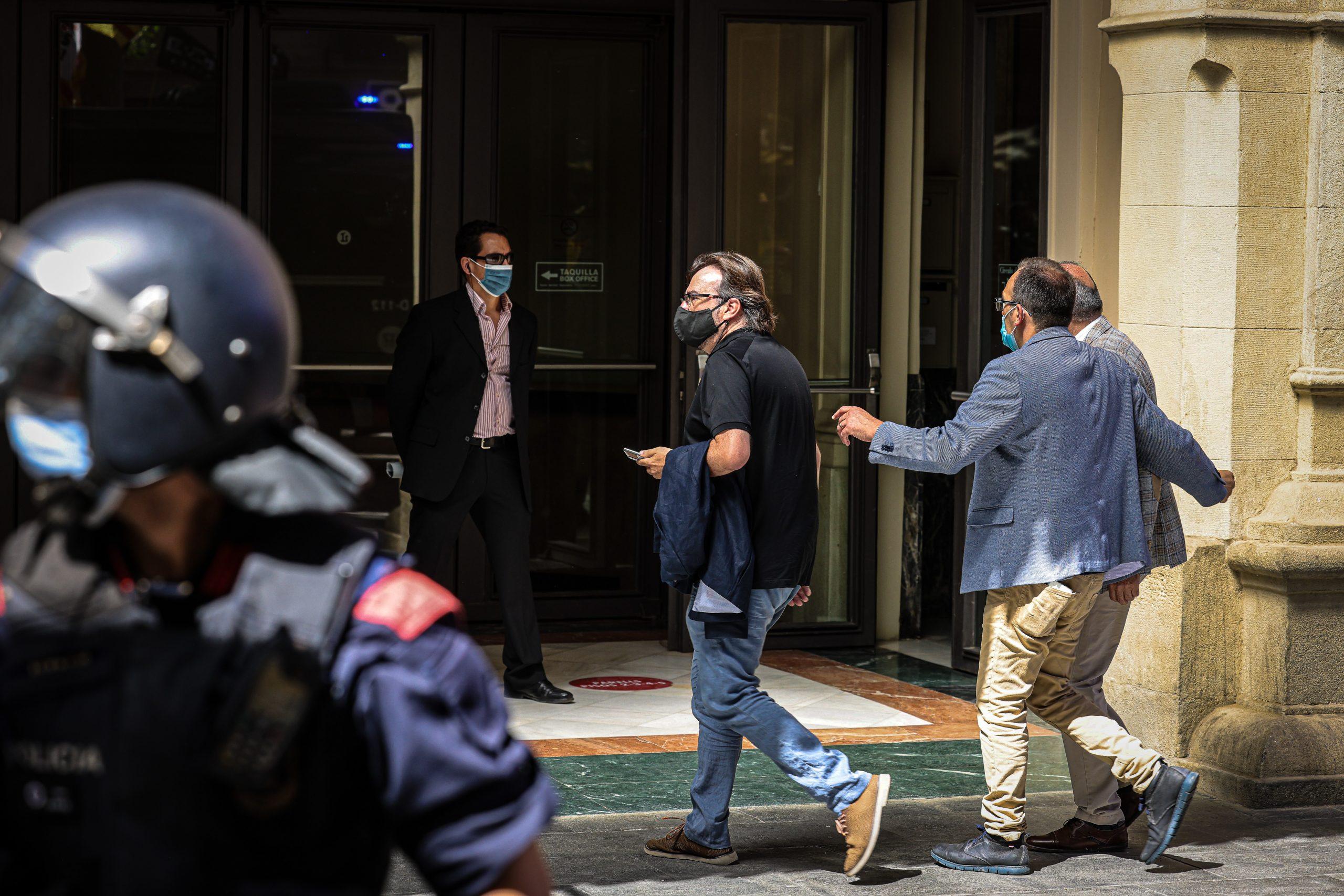 Camil Ros, secretari general de la UGT a Catalunya, arribant al Liceu per al discurs de Pedro Sánchez / Jordi Borràs