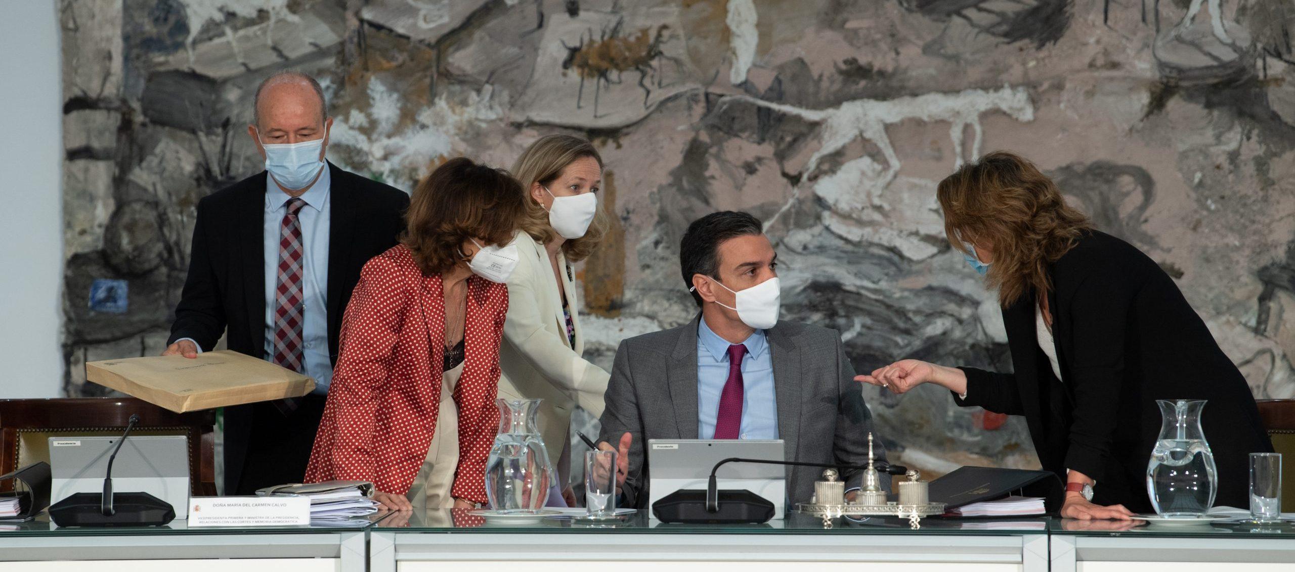 El president espanyol, Pedro Sánchez, en l'acte del Liceu, ahir / DAVID ZORRAKINO / EUROPA PRESS