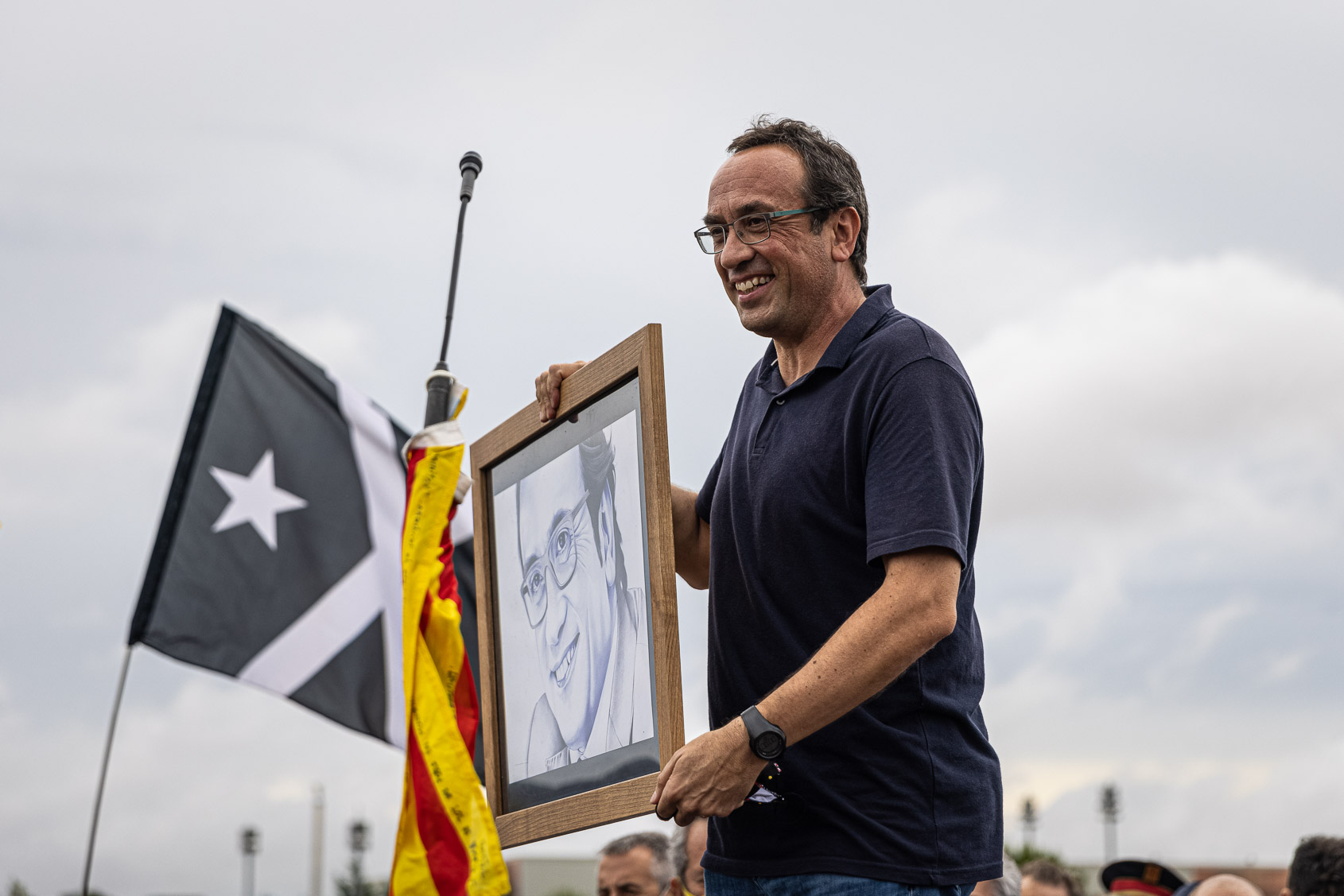Josep Rull, el dia de l'alliberament dels presos polítics de l'1-O per l'indult, a la sortida de Lledoners / Jordi Borràs