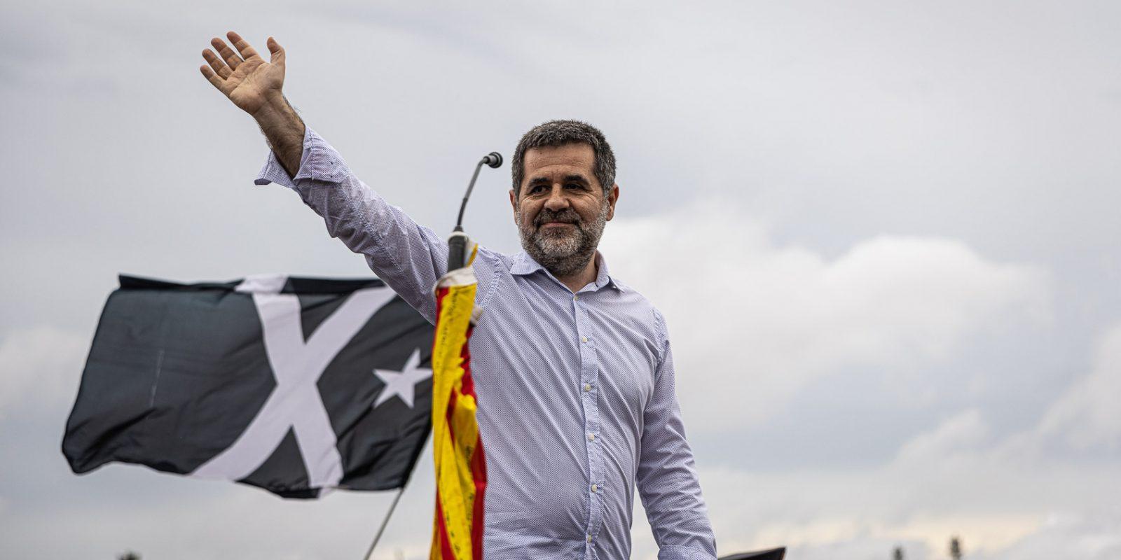 Jordi Sànchez, el dia de l'alliberament dels presos polítics de l'1-O per l'indult, a la sortida de Lledoners / Jordi Borràs