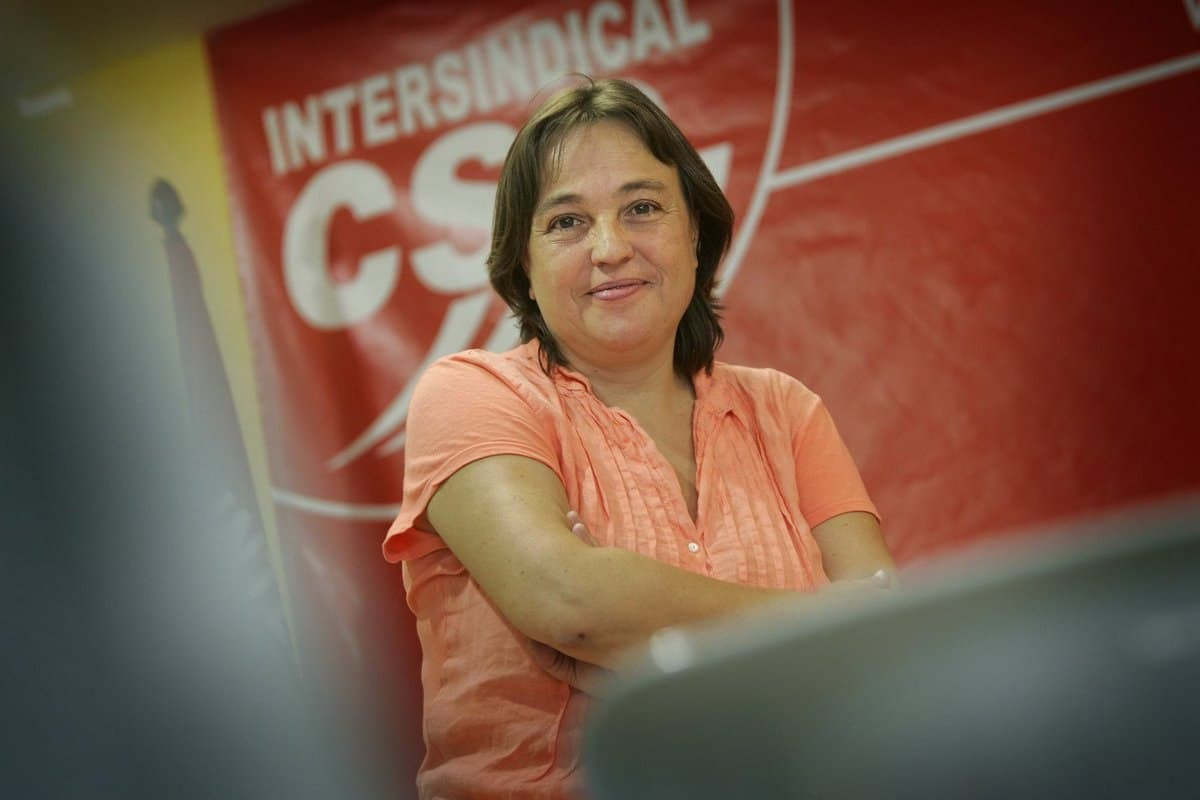 L'exsecretària de la Intersindical CSC, Isabel Pallarès, en una imatge d'arxiu / Jordi Play
