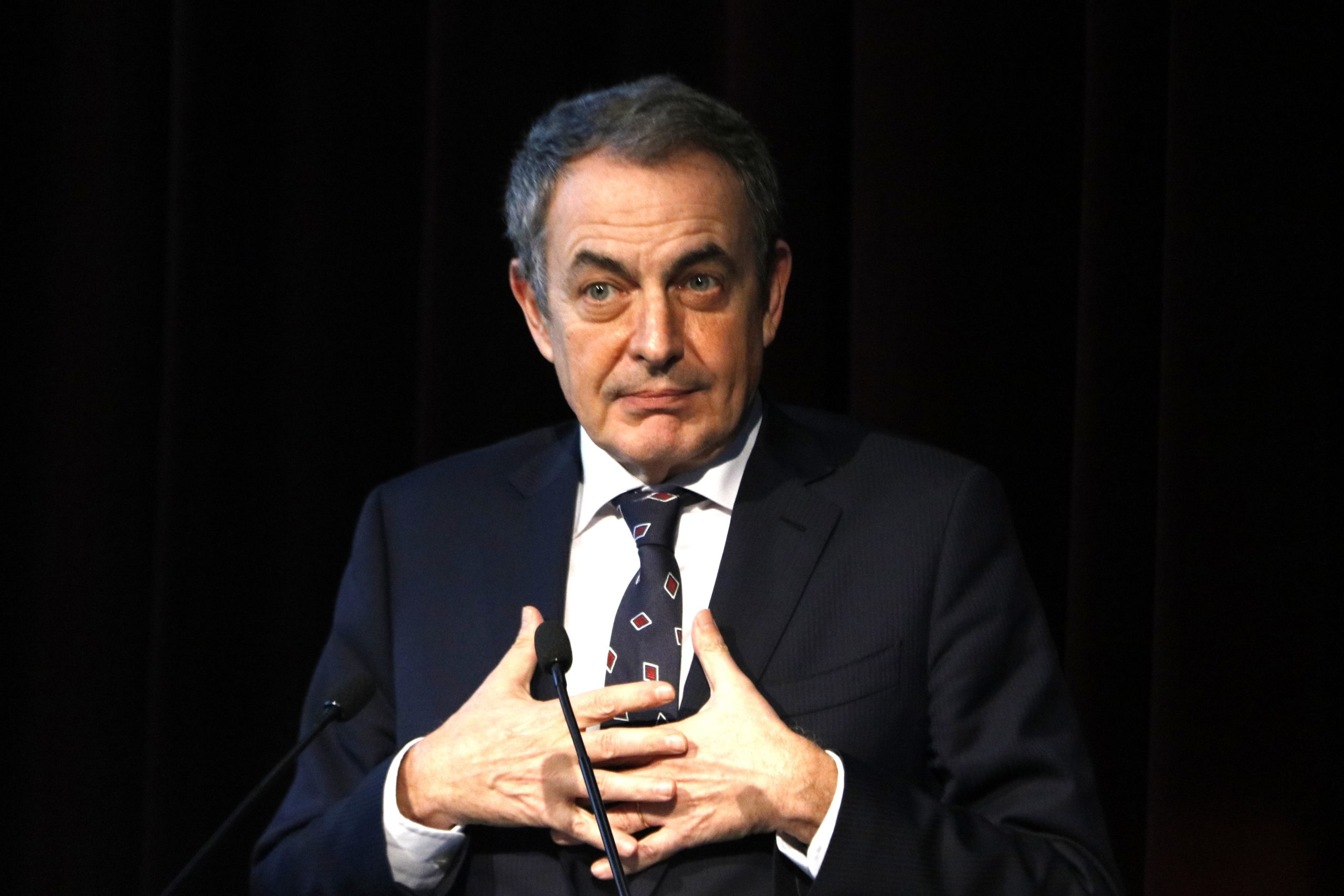L'expresident del govern espanyol José Luis Rodríguez Zapatero, el 12 de febrer del 2020 a Barcelona | ACN