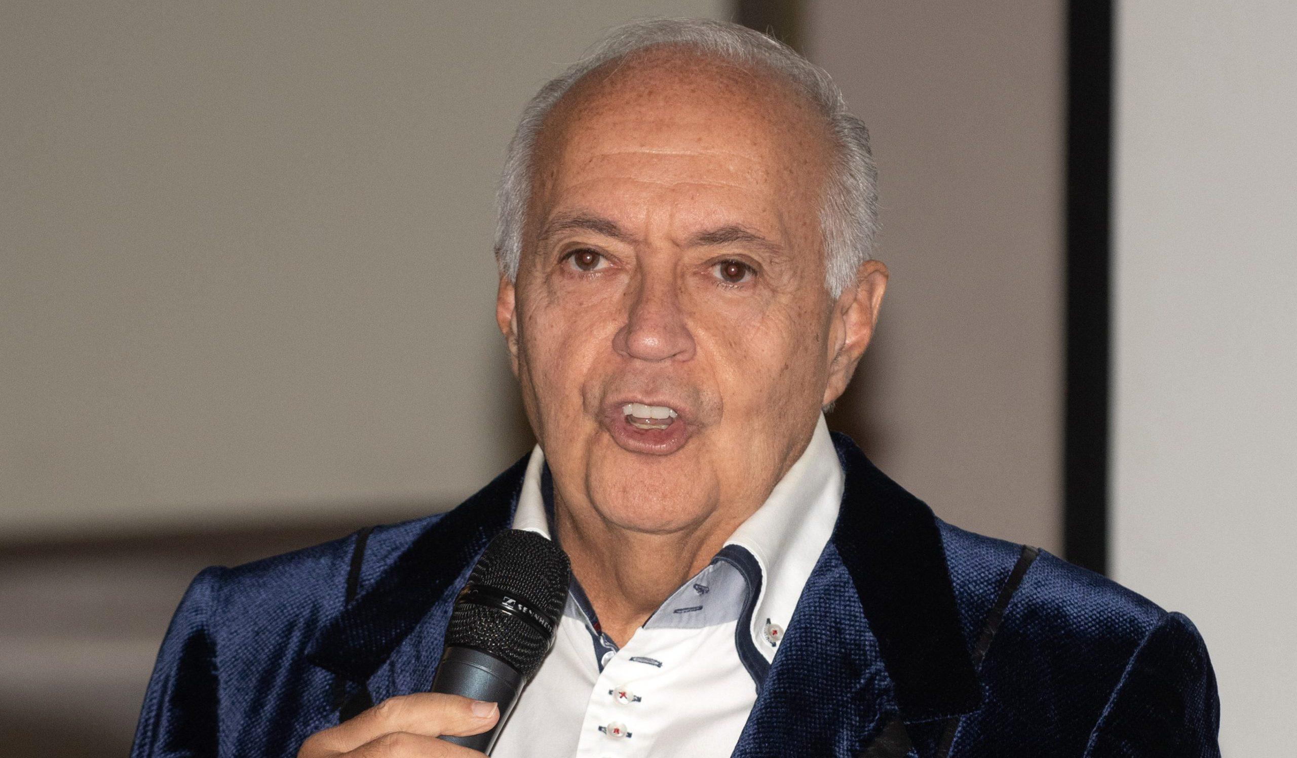 El productor José Luis Moreno, en la presentació d'una sèrie - Europa Press