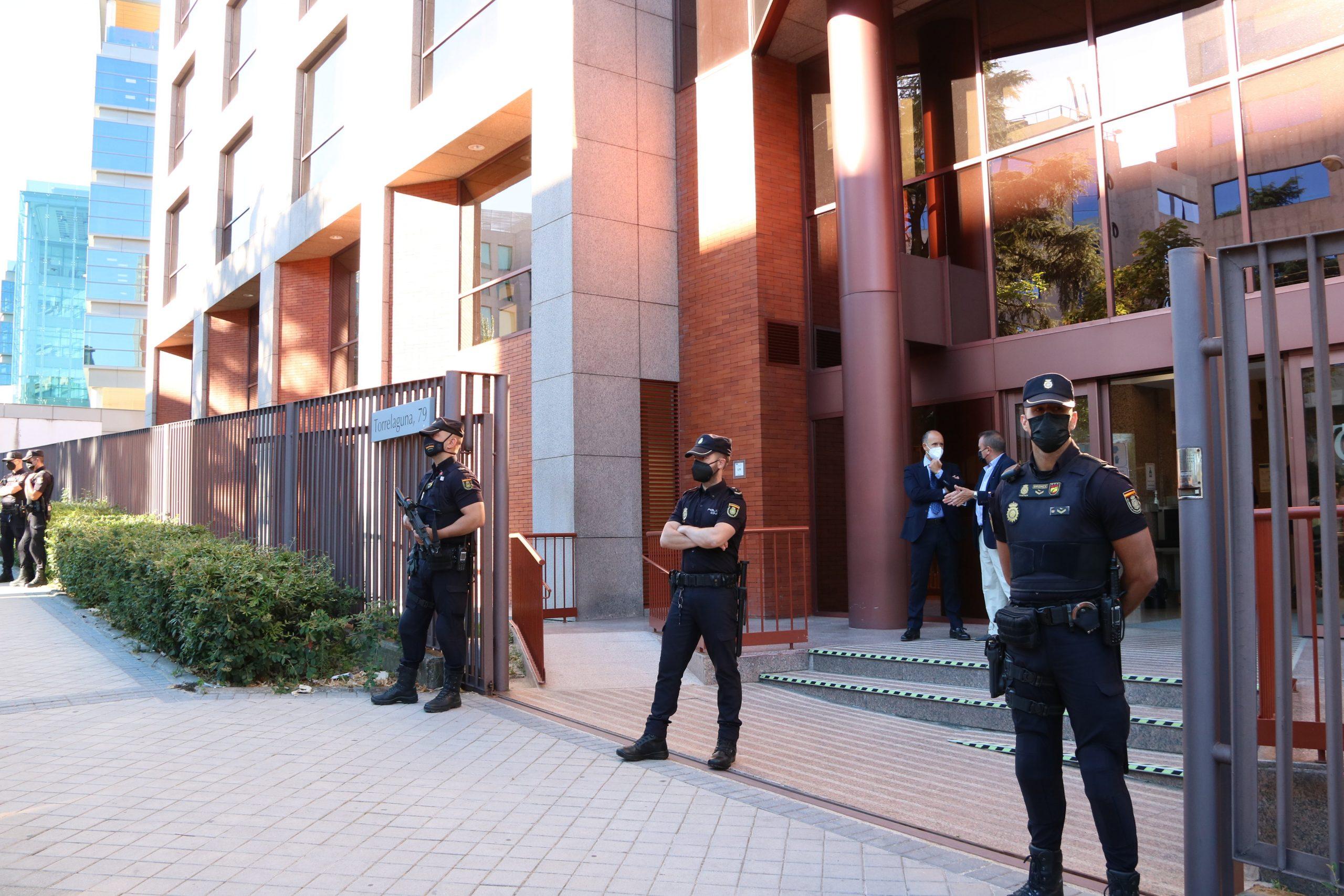 L'entrada de la seu del Tribunal de Comptes al carrer Torrelaguna de Madrid | ACN