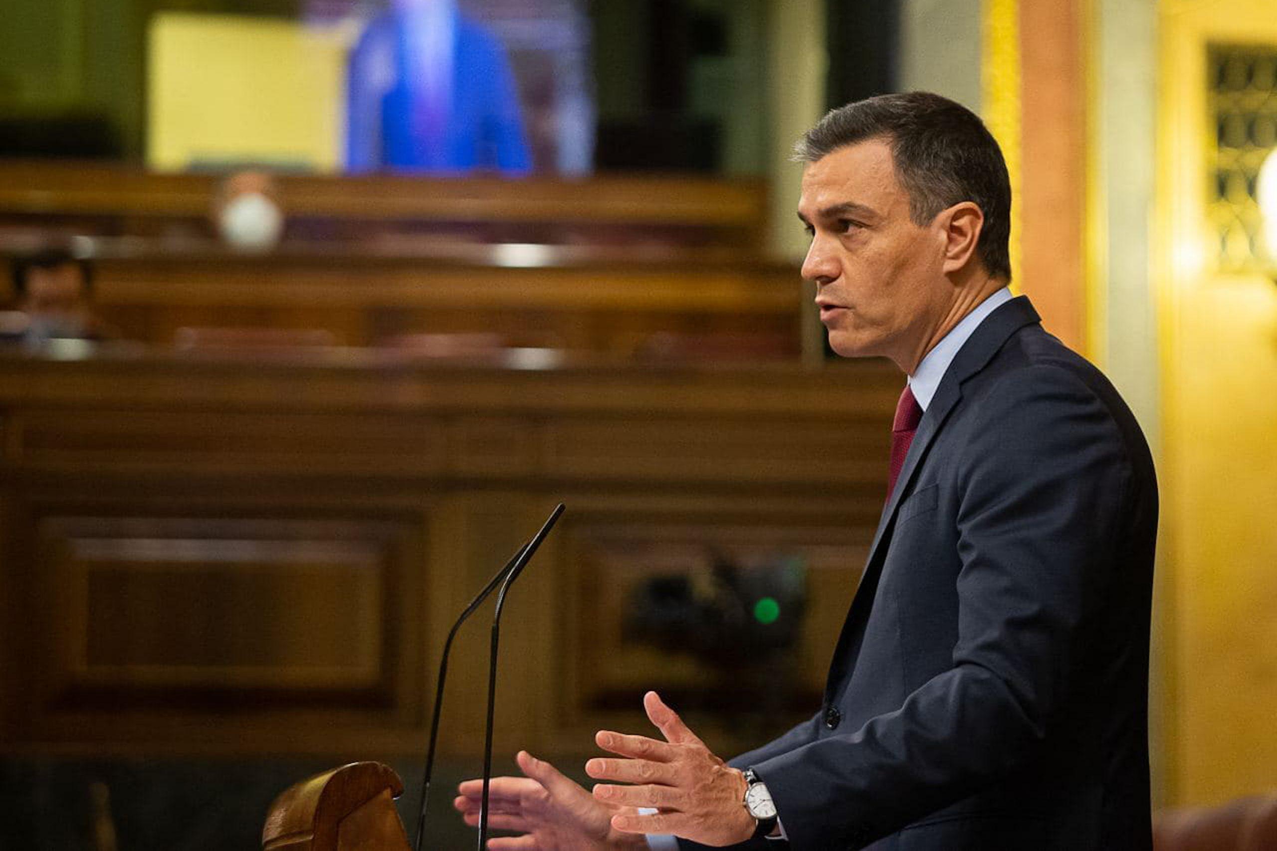 El president del govern espanyol, Pedro Sánchez, durant un ple del Congrés dels Diputats | ACN