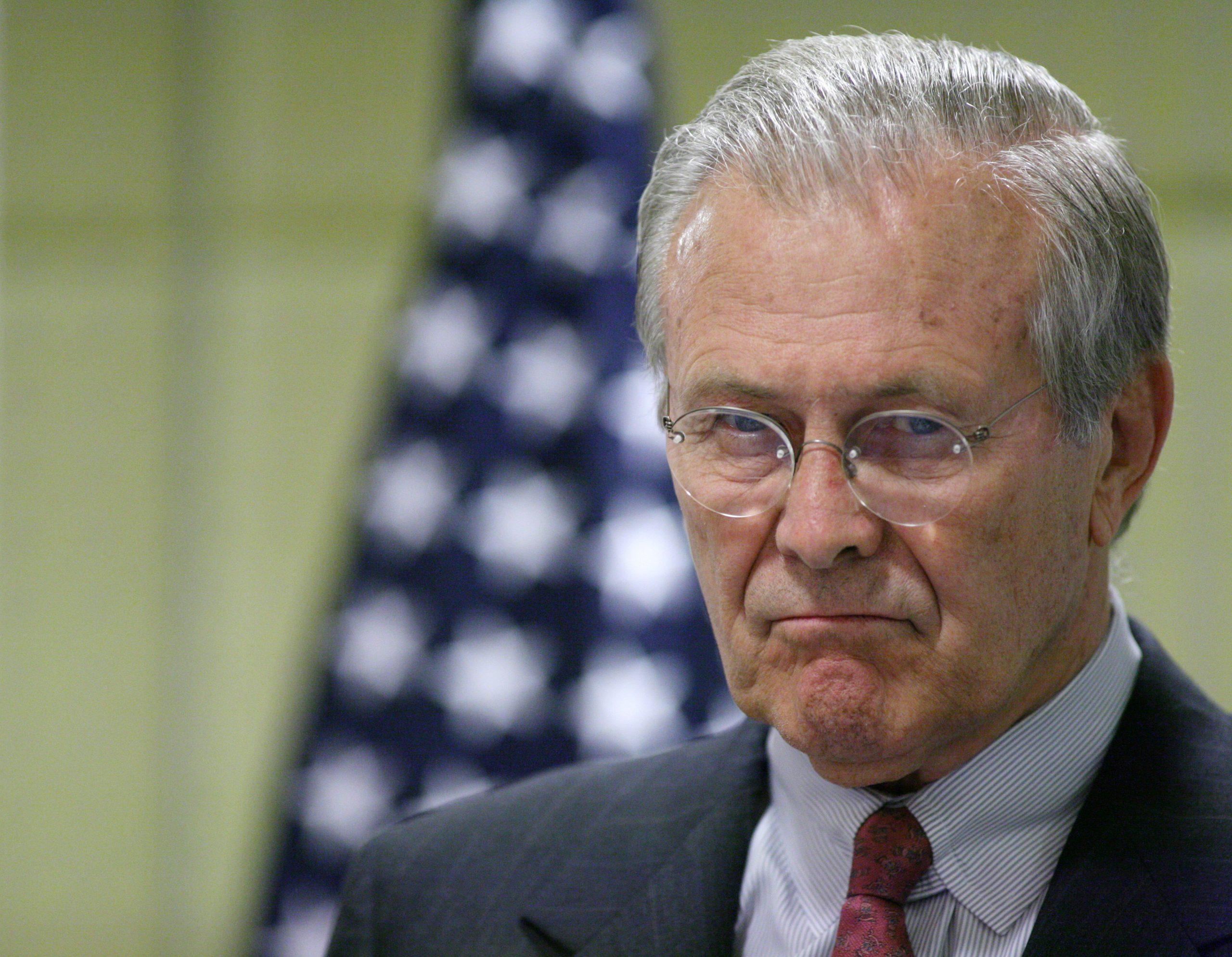 Imatge d'arxiu de Donald Rumsfeld / ACN