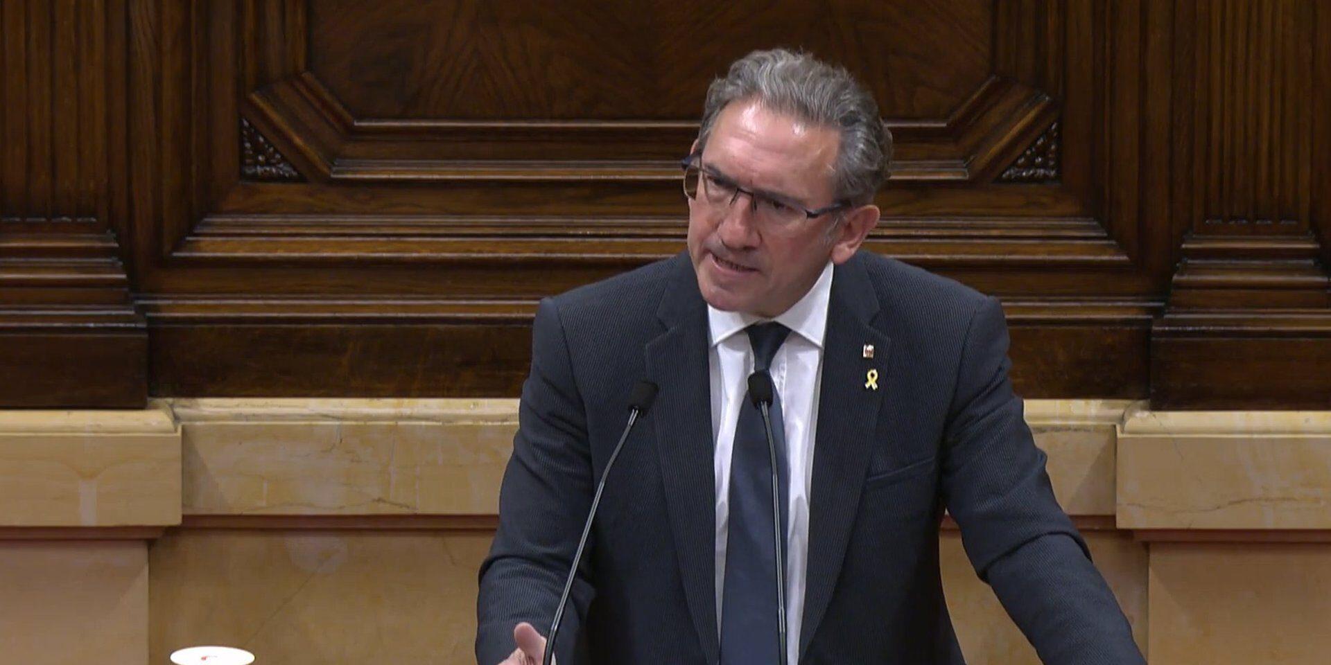 El conseller d'Economia i Hisenda de la Generalitat, Jaume Giró, al ple del Parlament / Europa Press