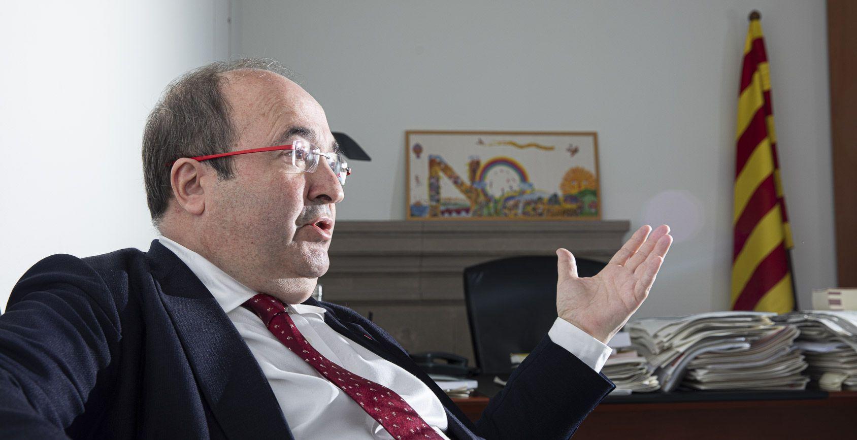 Miquel Iceta, entrevistat per El Món al seu despatx del Parlament, el desembre del 2020 / Jordi Borràs