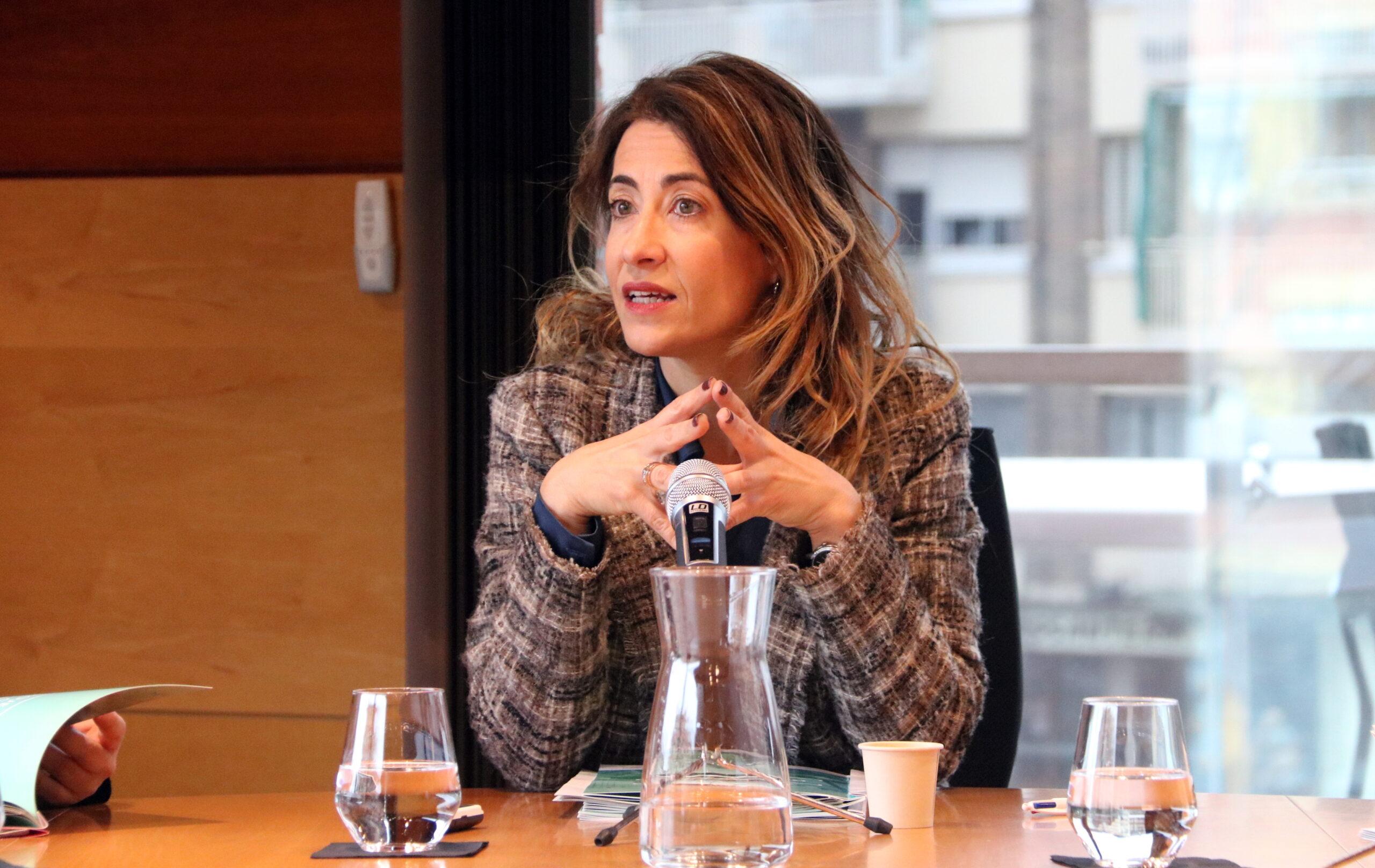 Imatge de l'alcaldessa de Gavà, Raquel Sànchez, en roda de premsa el 4 de març de 2020 (ACN)