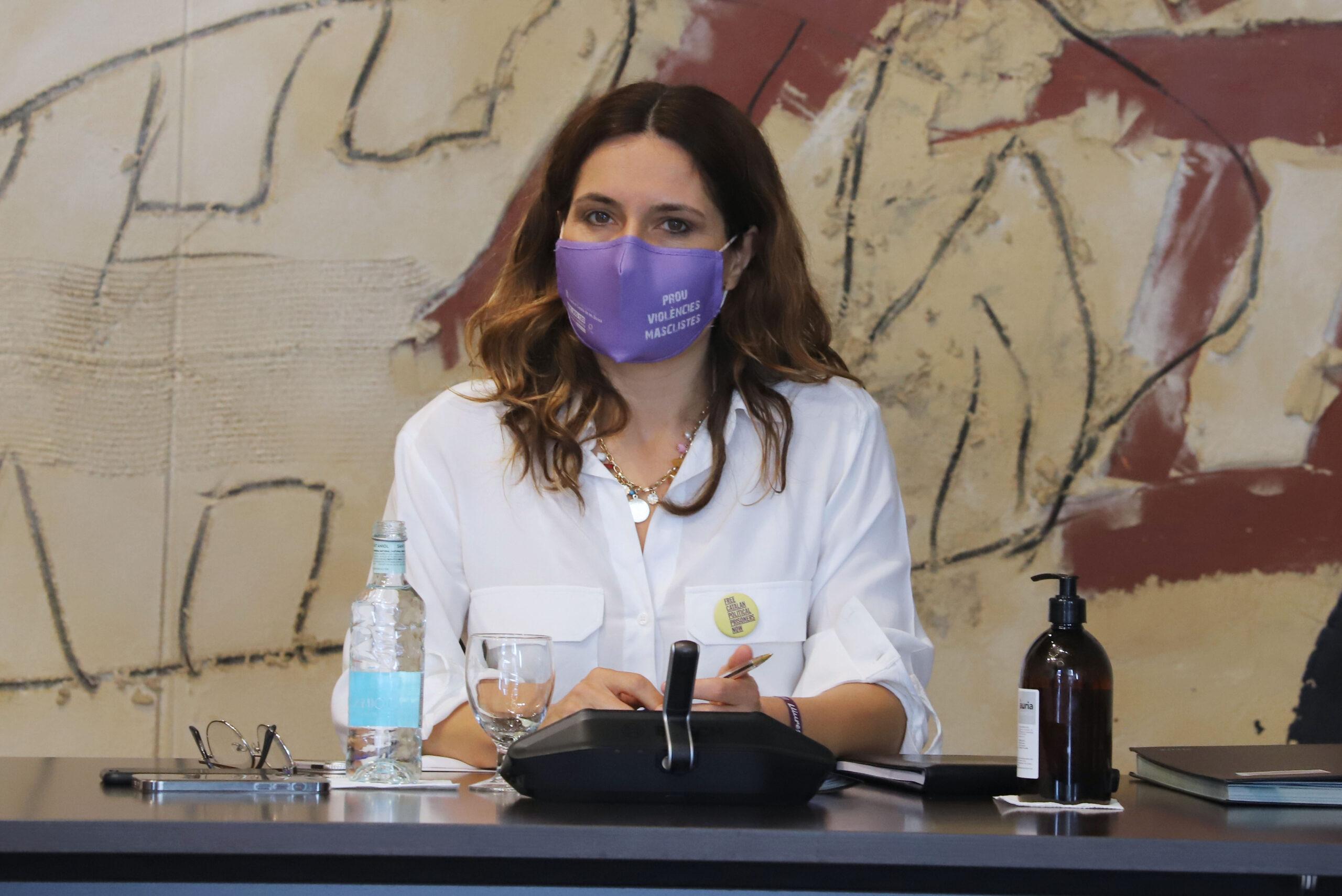 La consellera de Presidència, Laura Vilagrà, durant el consell executiu del 22 de juny del 2021 / ACN