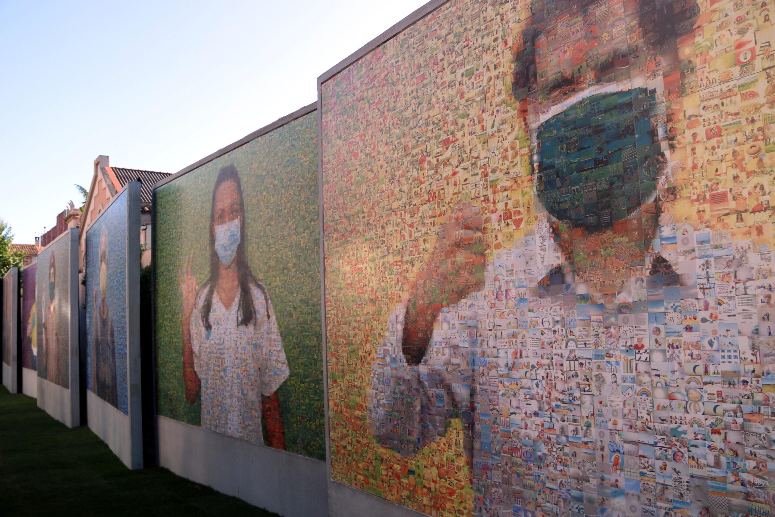 El fotomosaic gegant de Joan Fontcuberta instal·lat a Igualada / ACN
