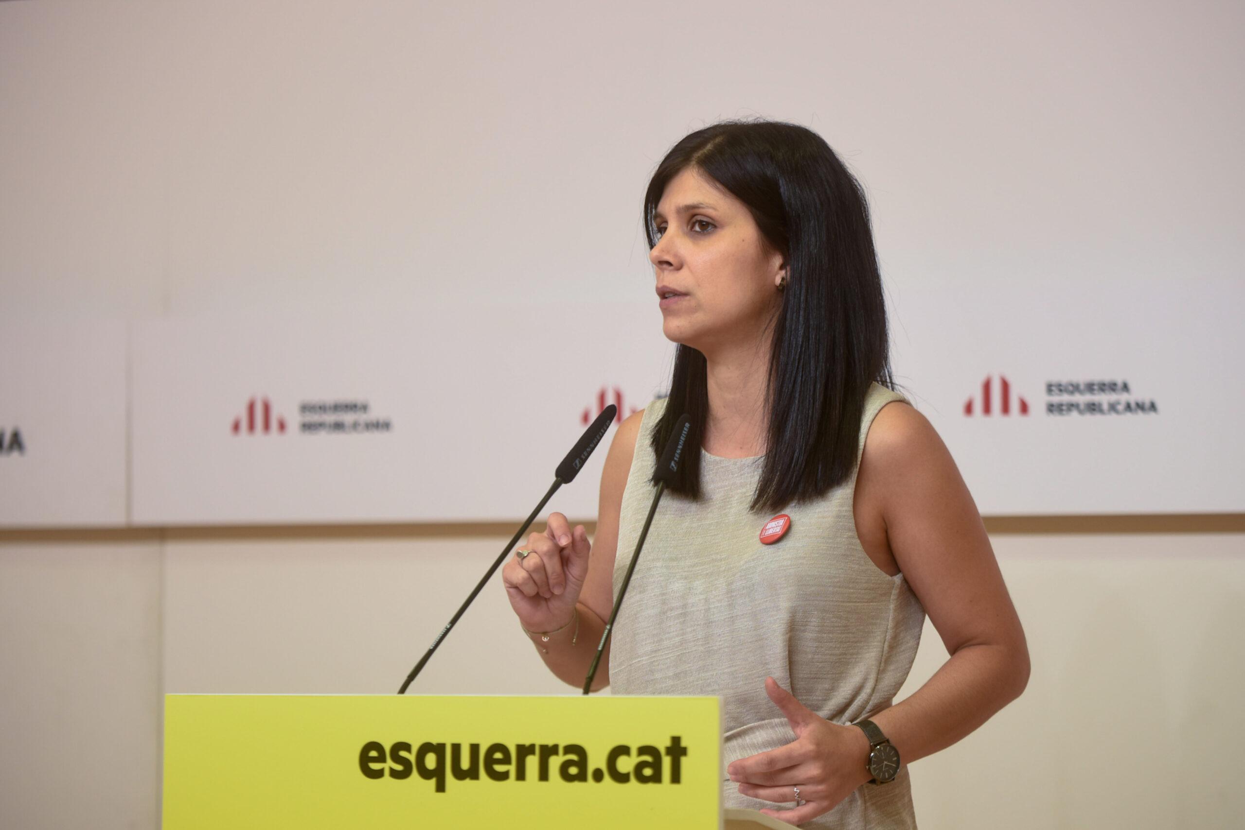 La portaveu d'ERC, Marta Vilalta, en roda de premsa | ACN