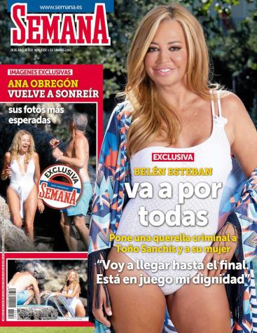 Belén Esteban, en banyador a la portada de 'Semana'