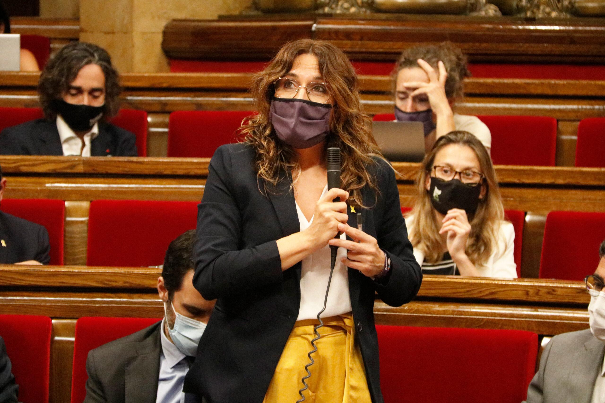 La consellera de Presidència, Laura Vilagrà, durant el ple del Parlament aquest 21 de juliol de 2021 / ACN