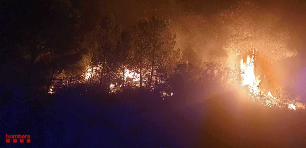 Incendi de Santa Coloma de Queralt   Bombers