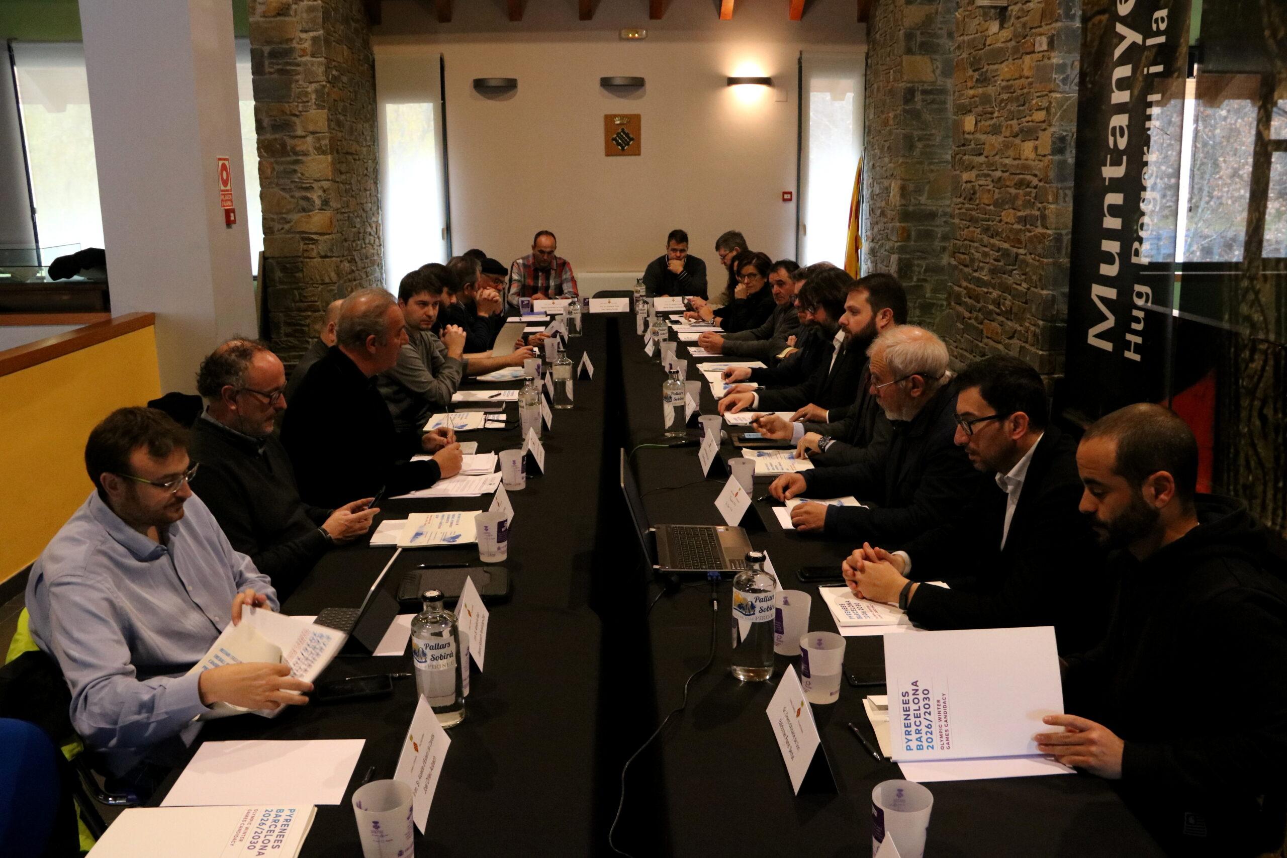 La constitució de la Taula de Treball Permanent dels Jocs Olímpics d'Hivern al Pallars Sobirà