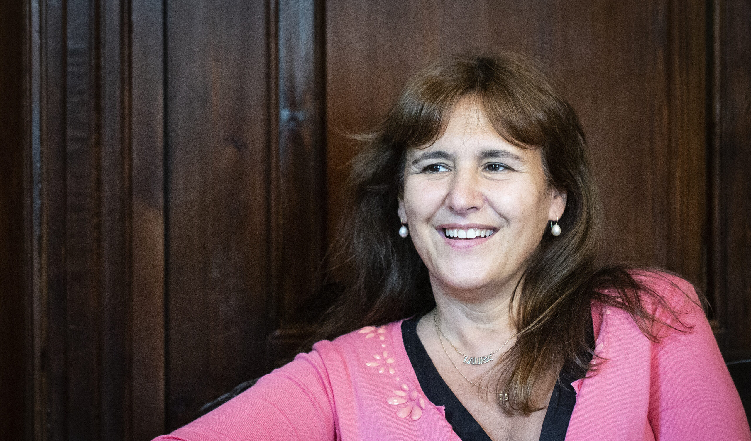 La presidenta del Parlament, Laura Borràs, al seu despatx | Mireia Comas
