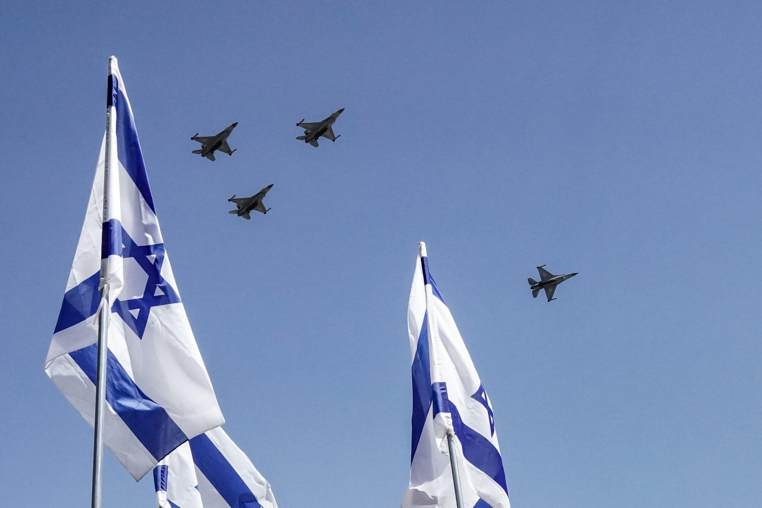 Banderes i avions de l'Exèrcit d'Israel   Europa Press