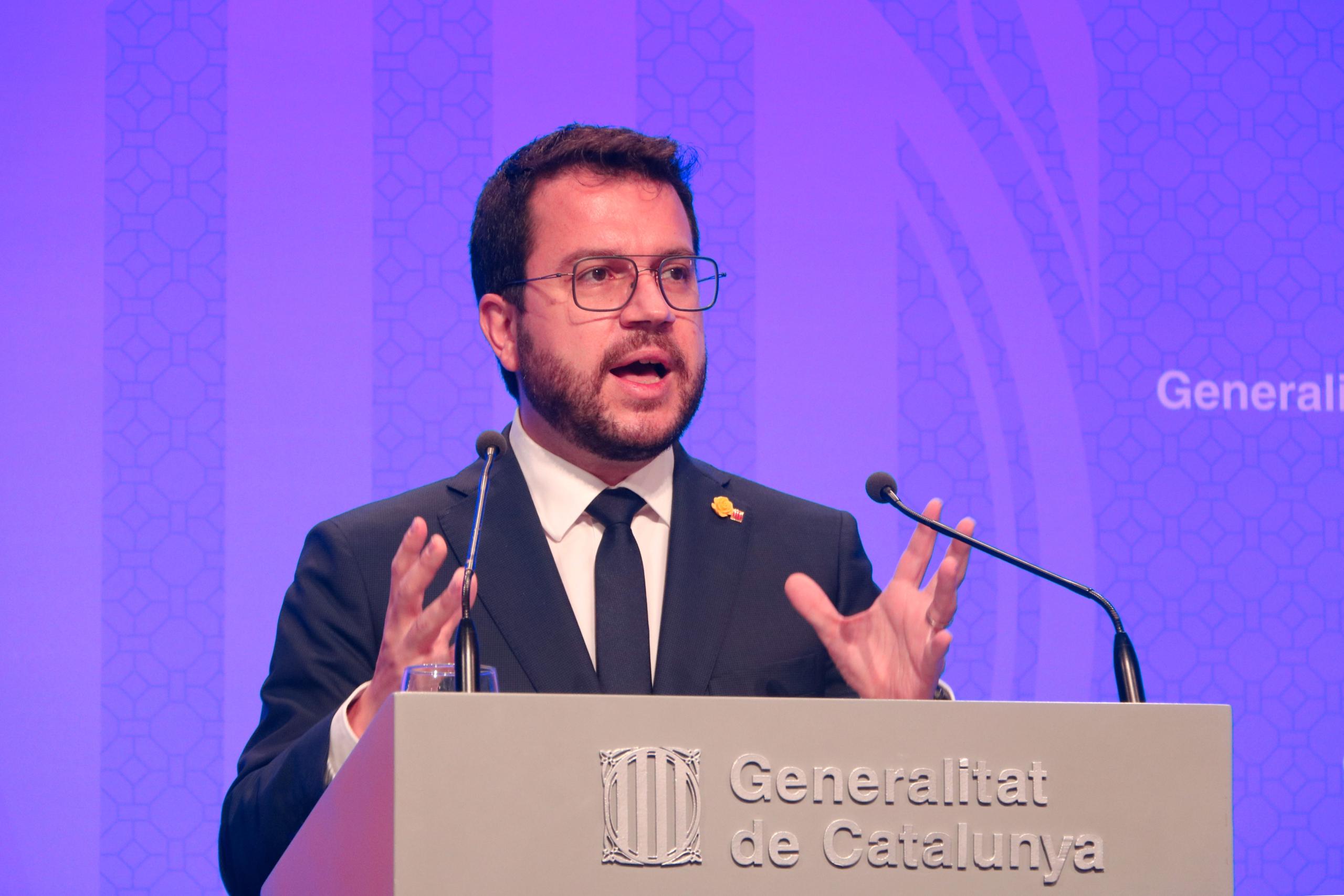 El president del Govern, Pere Aragonès, | ACN