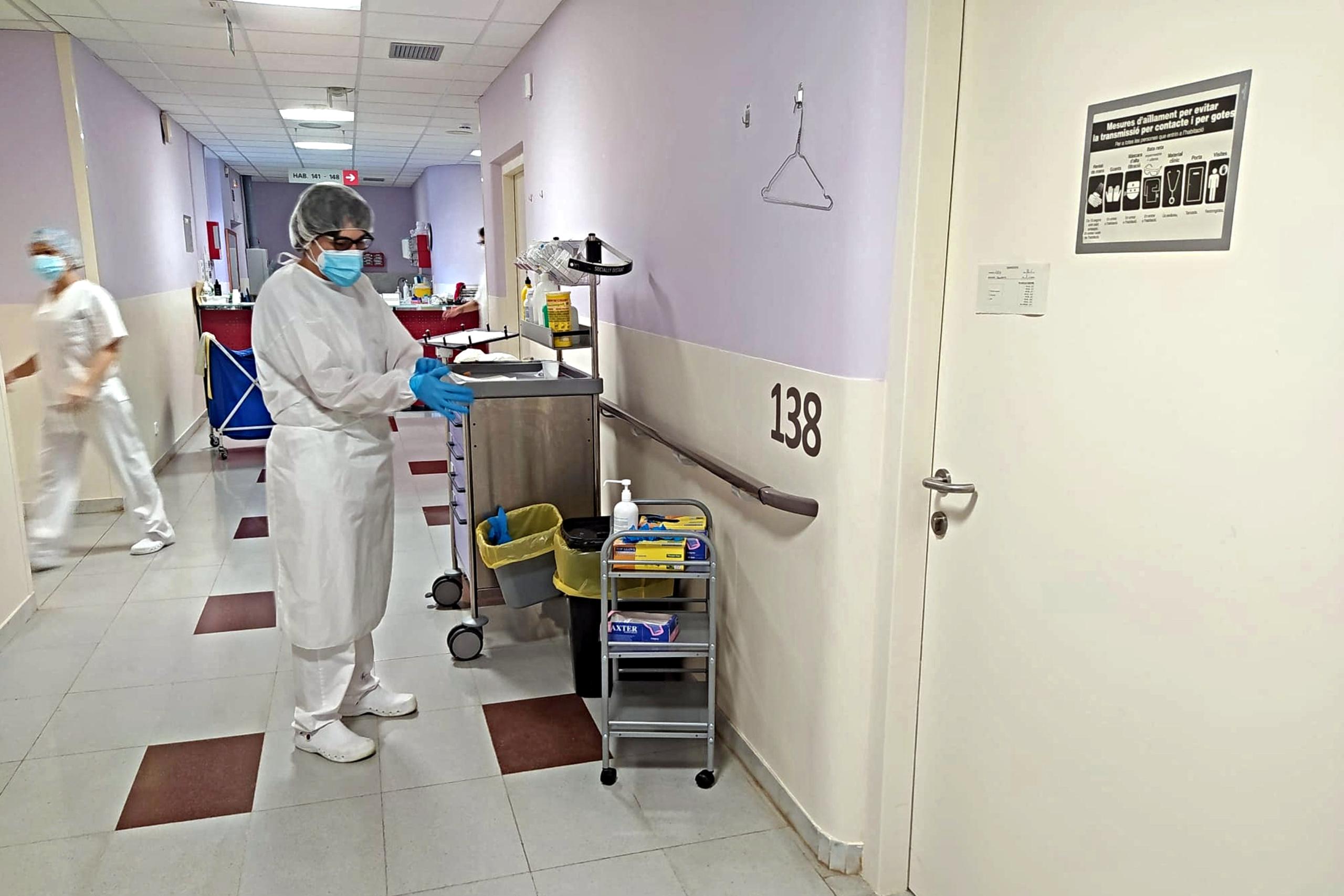 La planta de medicina interna de l'hospital de Figueres. Imatge cedida / ACN