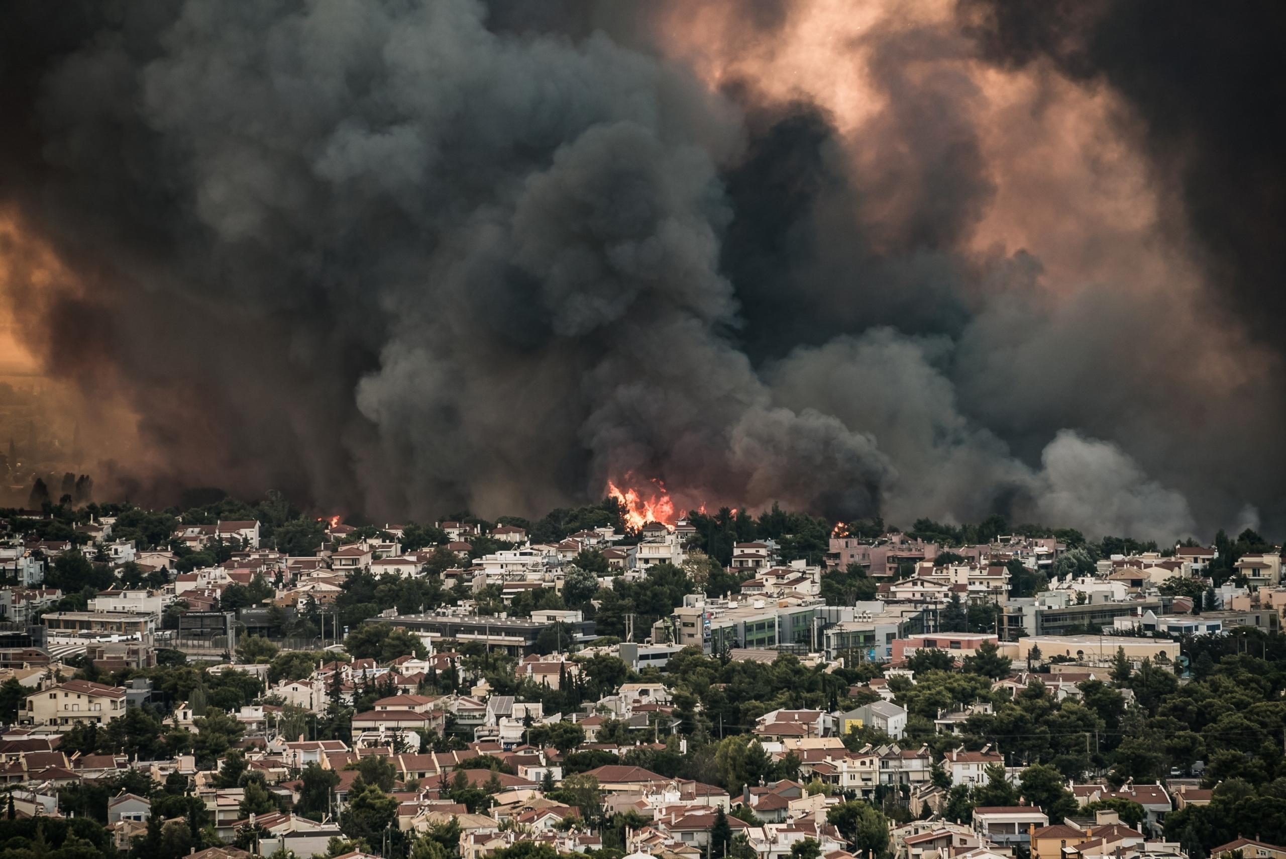 Incendis al nord d'Atenes   Europa Press