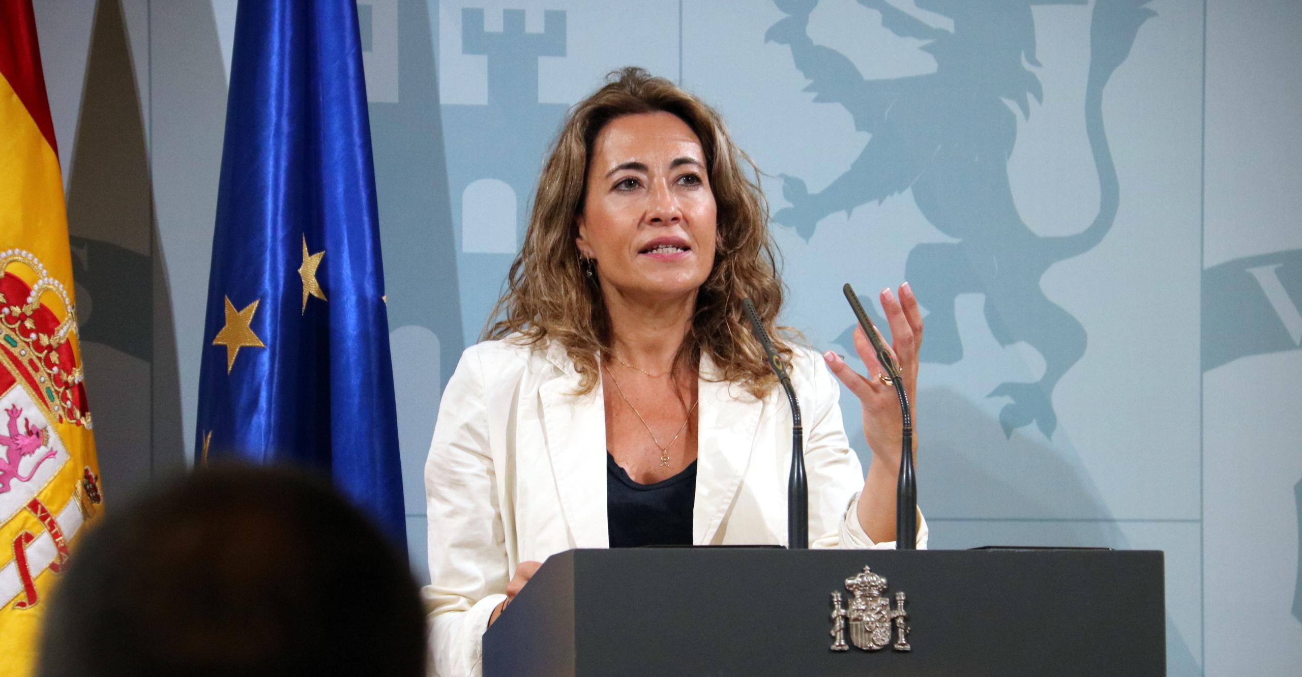 La ministra de Transports, Mobilitat i Agenda Urbana, Raquel Sánchez (ACN)