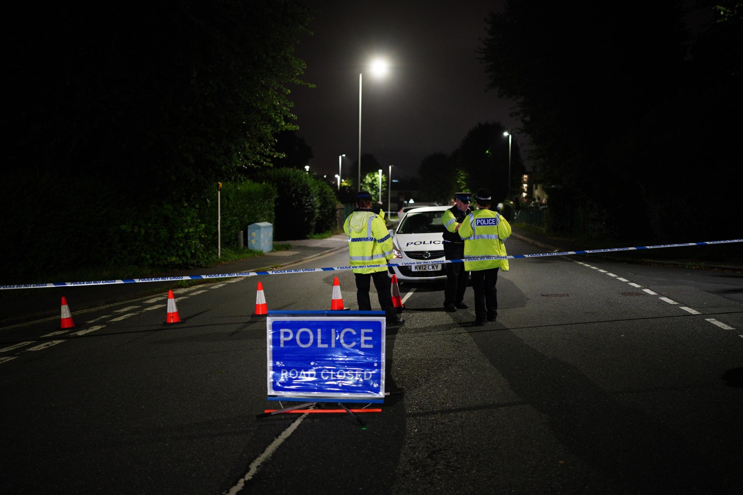 Policíes a prop de l'escena del crim de Plymouth /EP