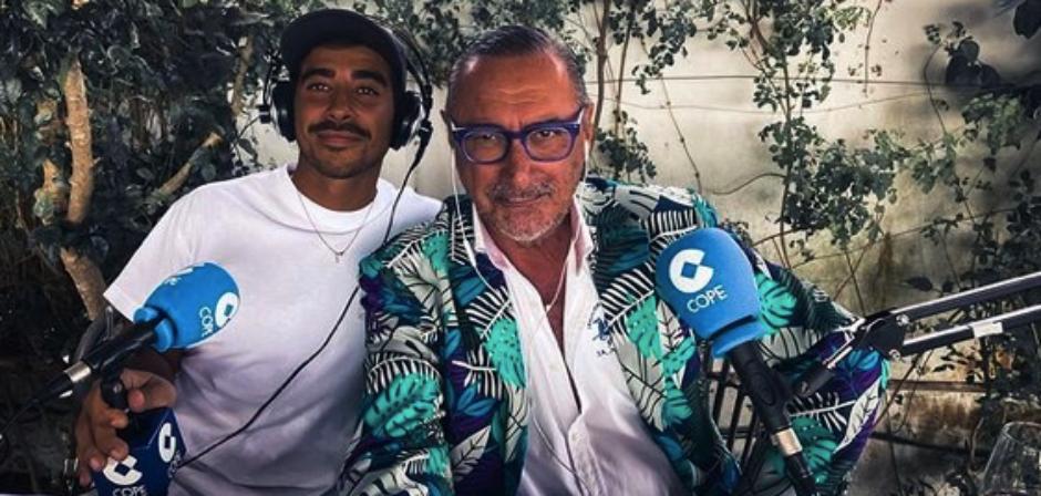 Carlos Herrera i el seu fill Alberto, a la COPE - Instagram
