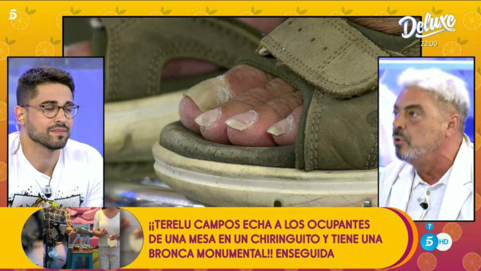Miguel Frigenti intenta ridiculitzar Canales pels seus peus - Telecinco