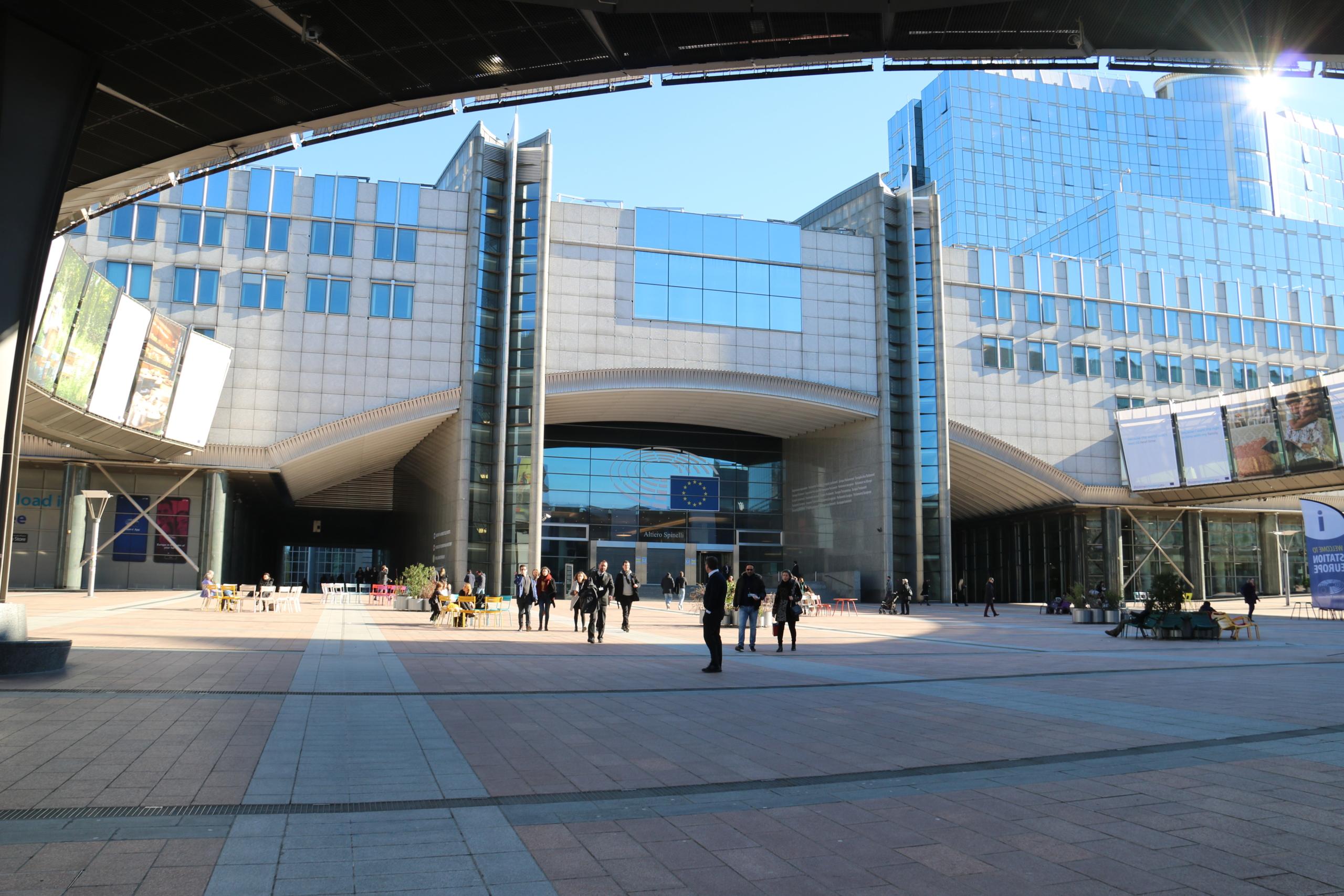 L'exterior de l'edifici Altiero Spinelli del Parlament Europeu / ACN