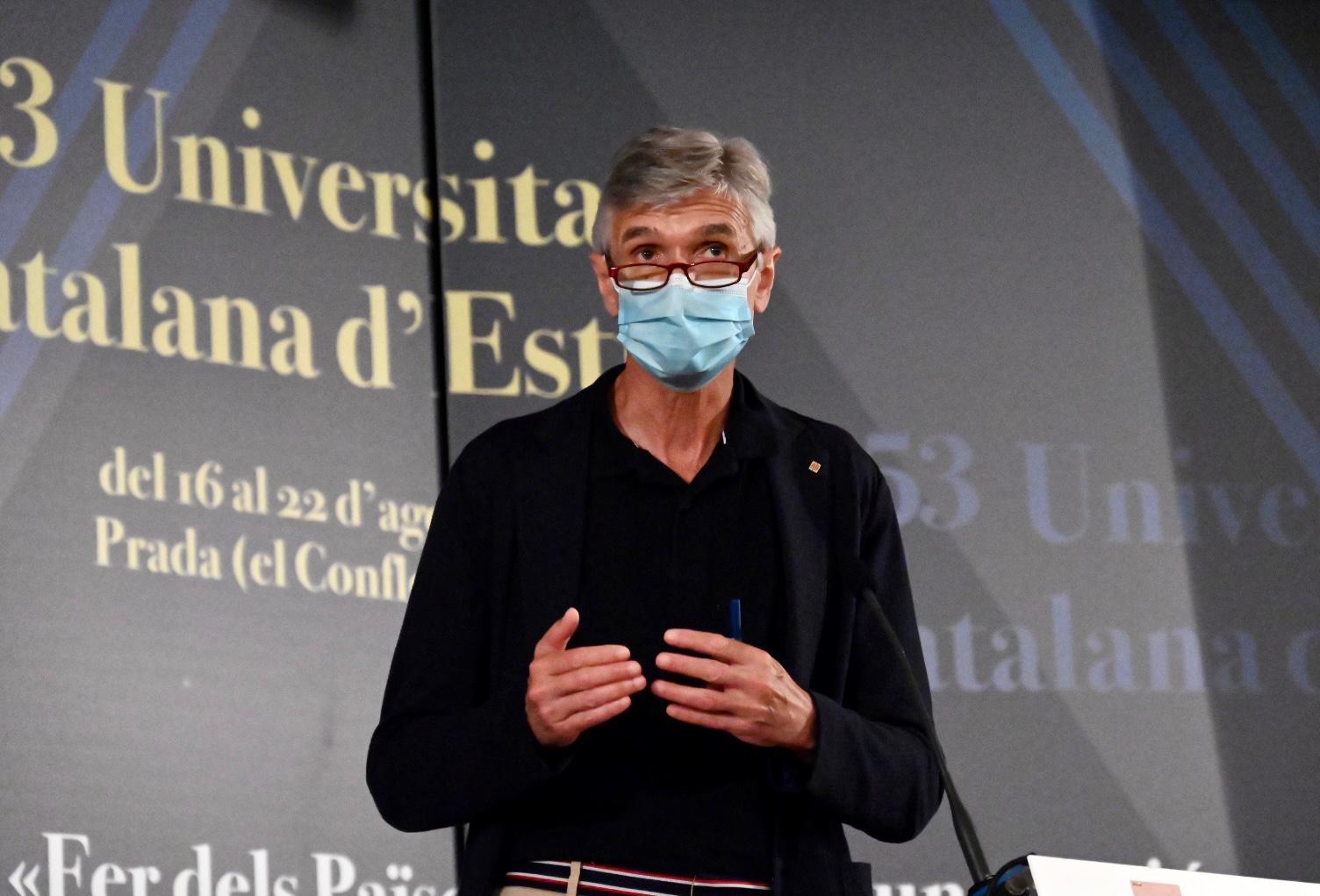 Argimon, en un moment de la conferència inaugural/Josep Maria Muntaner