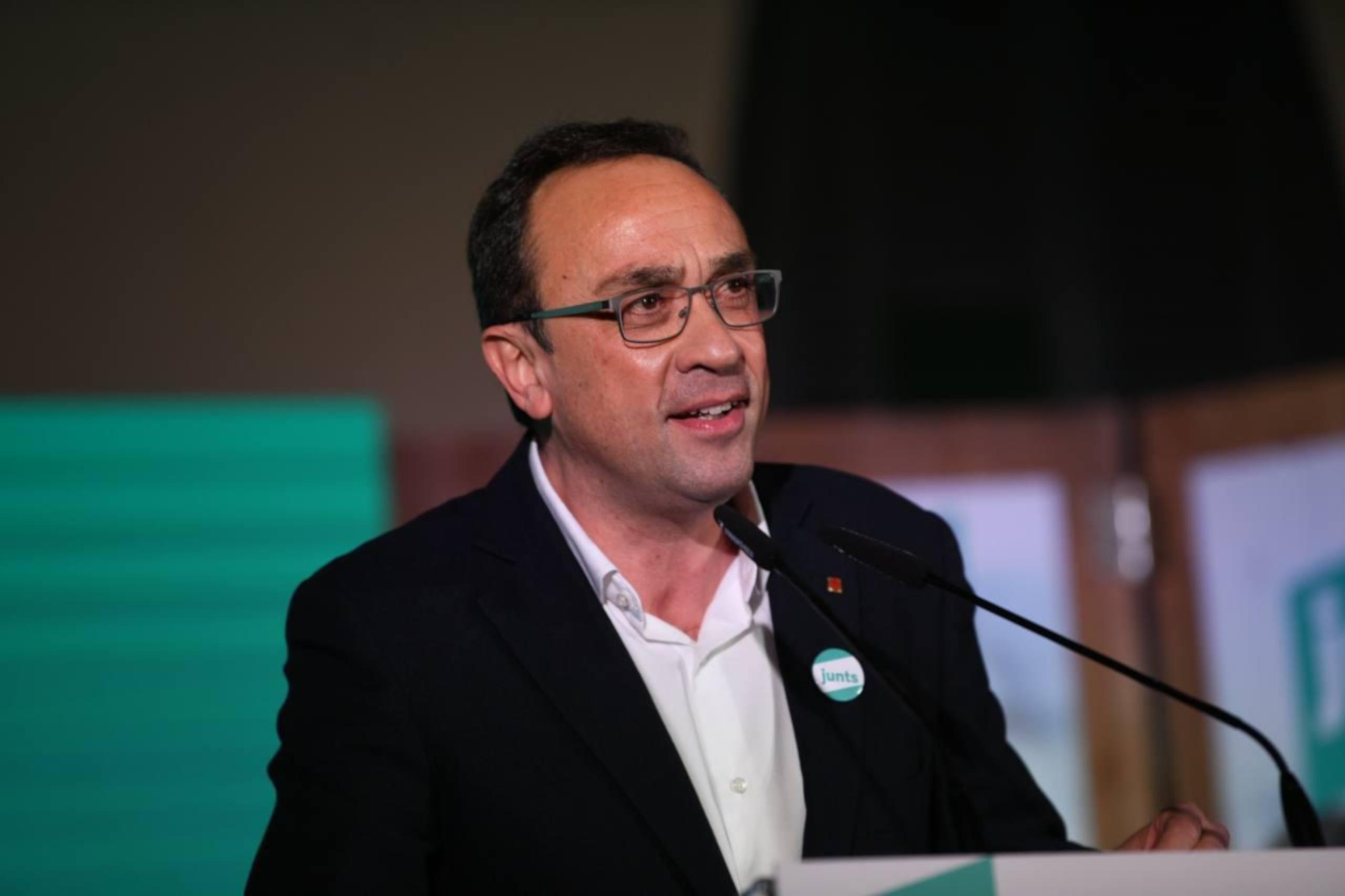 L'exconseller Josep Rull, durant l'acte de JxCat a Terrassa el 2 de febrer de 2021 / ACN