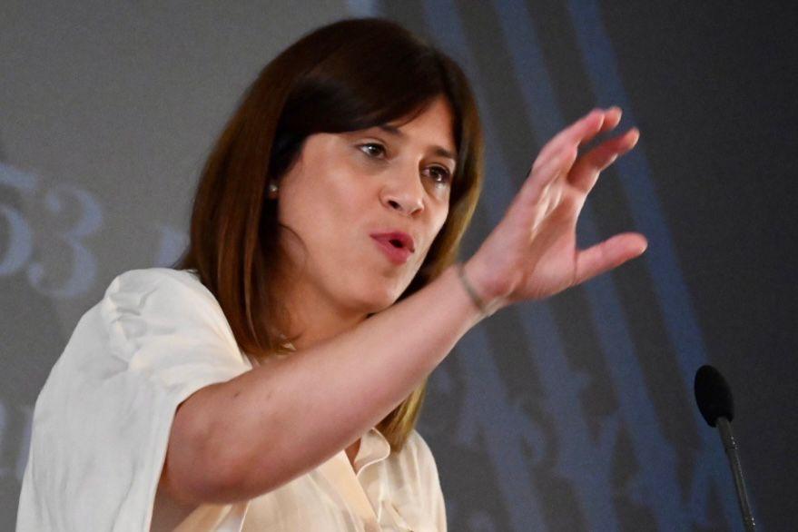 Gemma Geis, en un moment del seu discurs/Josep Maria Montaner