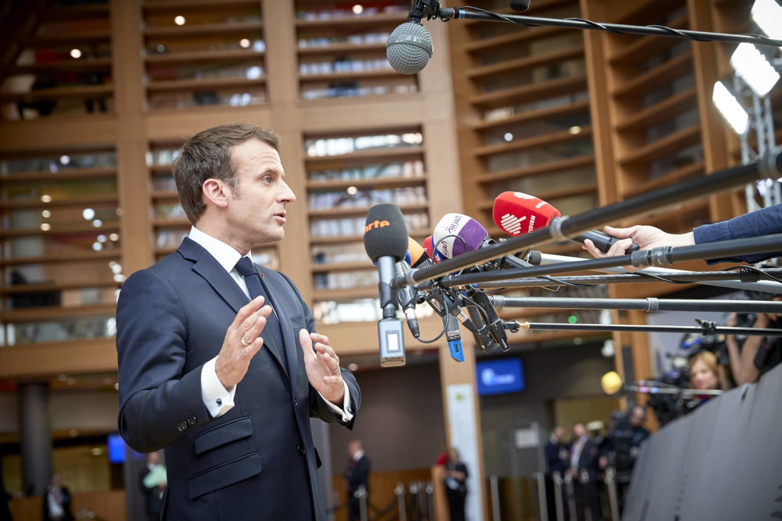 El president francès Emmanuel Macron   ACN