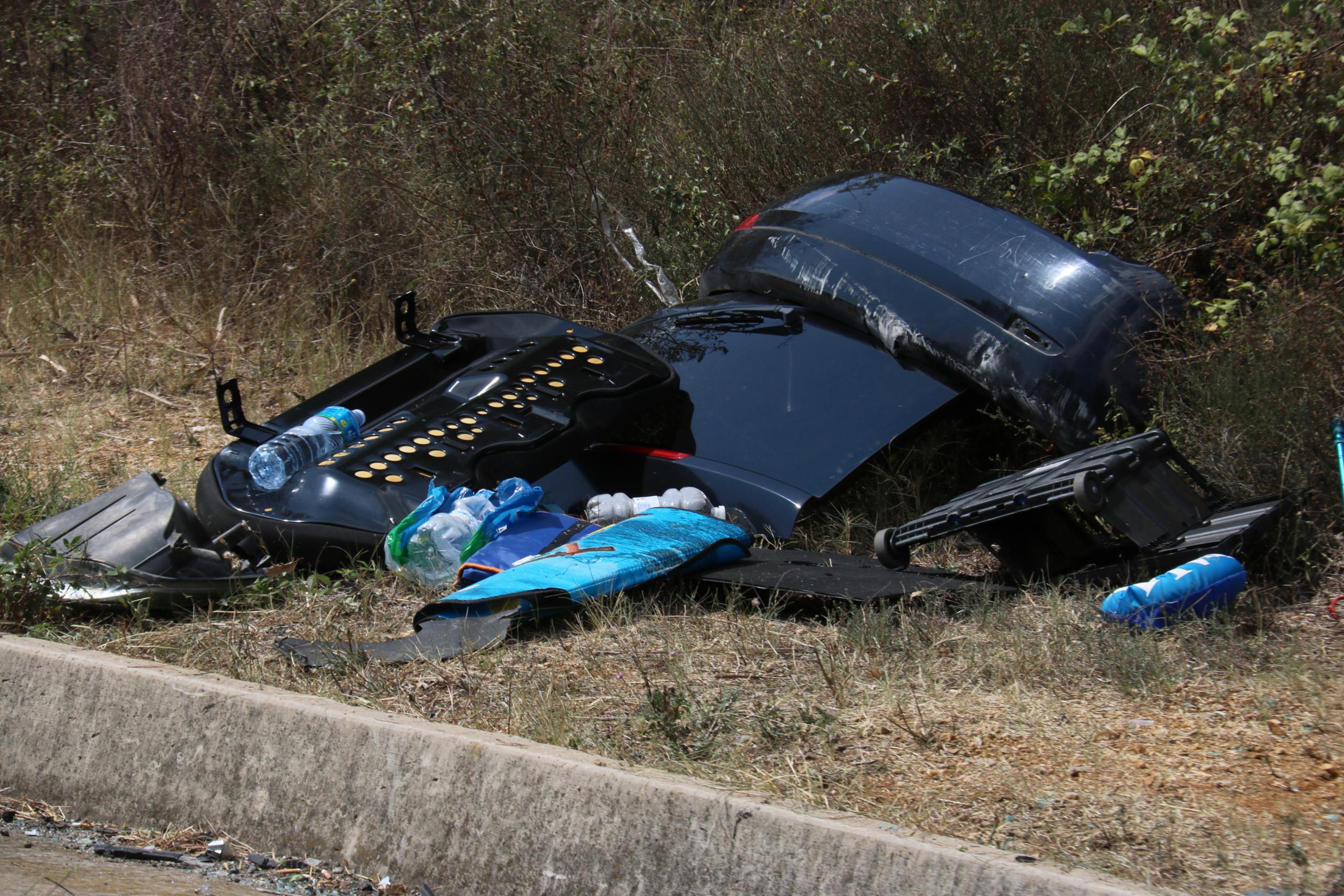 Les restes de l'accident de Fornells de la Selva   ACN