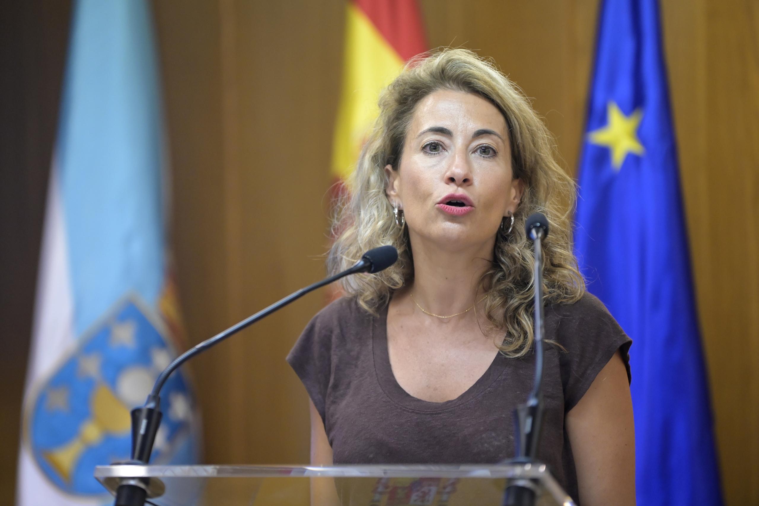 La ministra de Transport, Mobilitat i Agenda Urbana, Raquel Sánchez | Europa Press