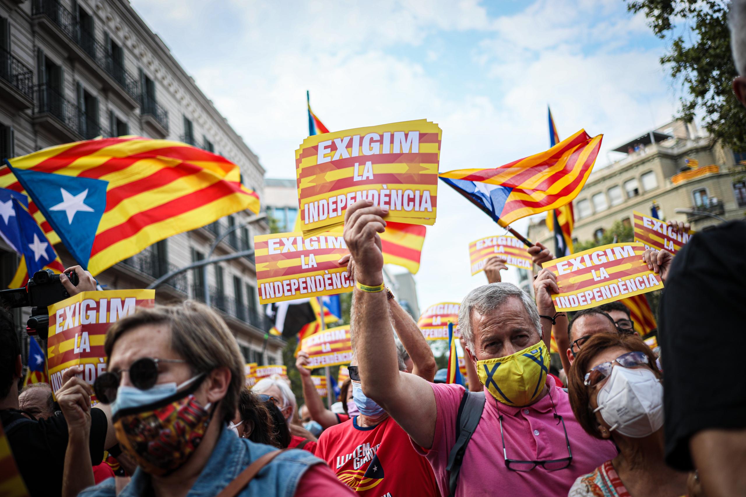 Imatge de la manifestació del dia de la Diada / Jordi Borràs