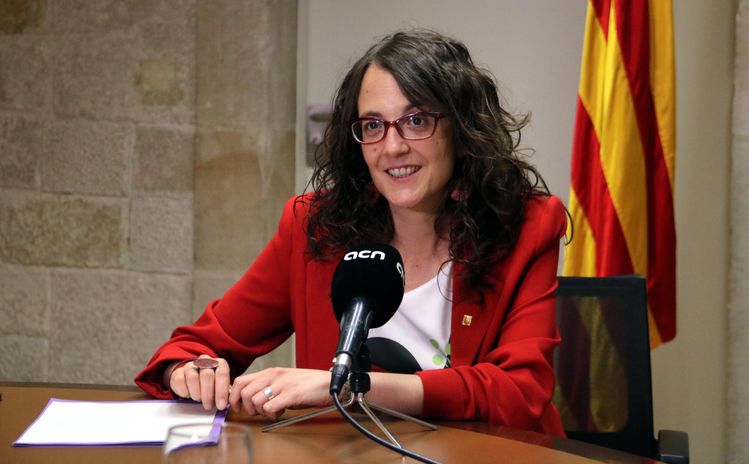La consellera d'Igualtat i Feminismes, Tània Verge, en una entrevista al Palau de la Generalitat / ACN