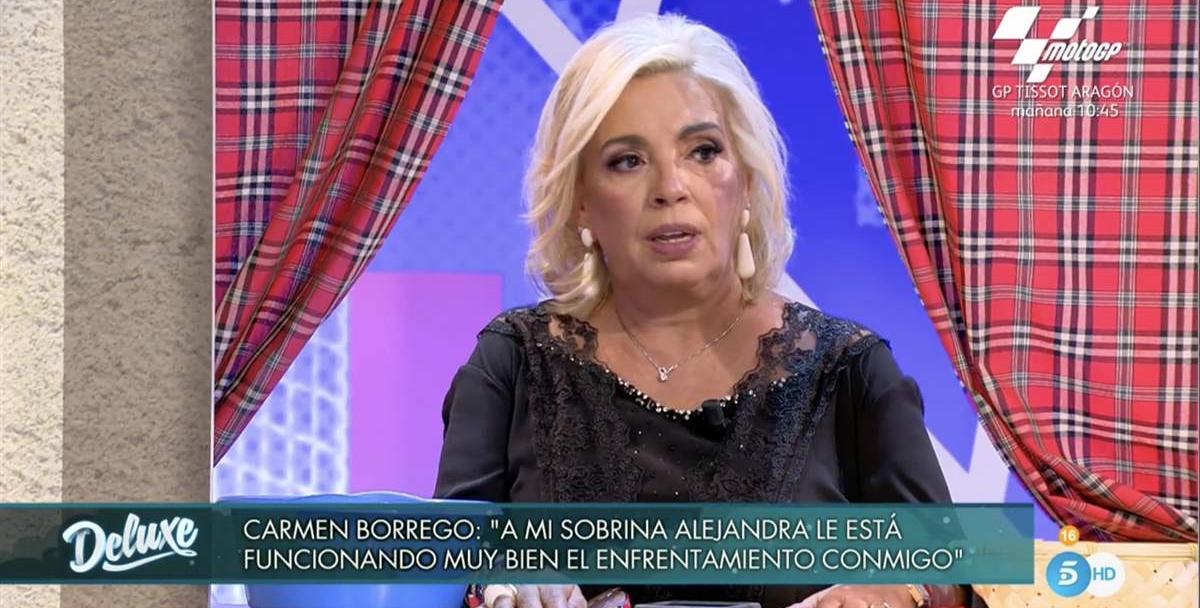 Carmen Borrego, enfadada al 'Deluxe' - Telecinco